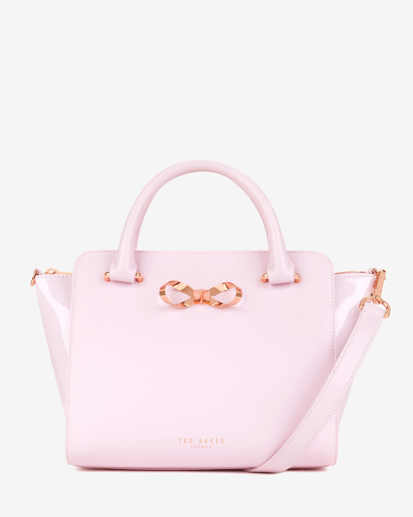 5bcd920098df Ted Baker Loop Bow Leather Tote Bag in Pink - Lyst