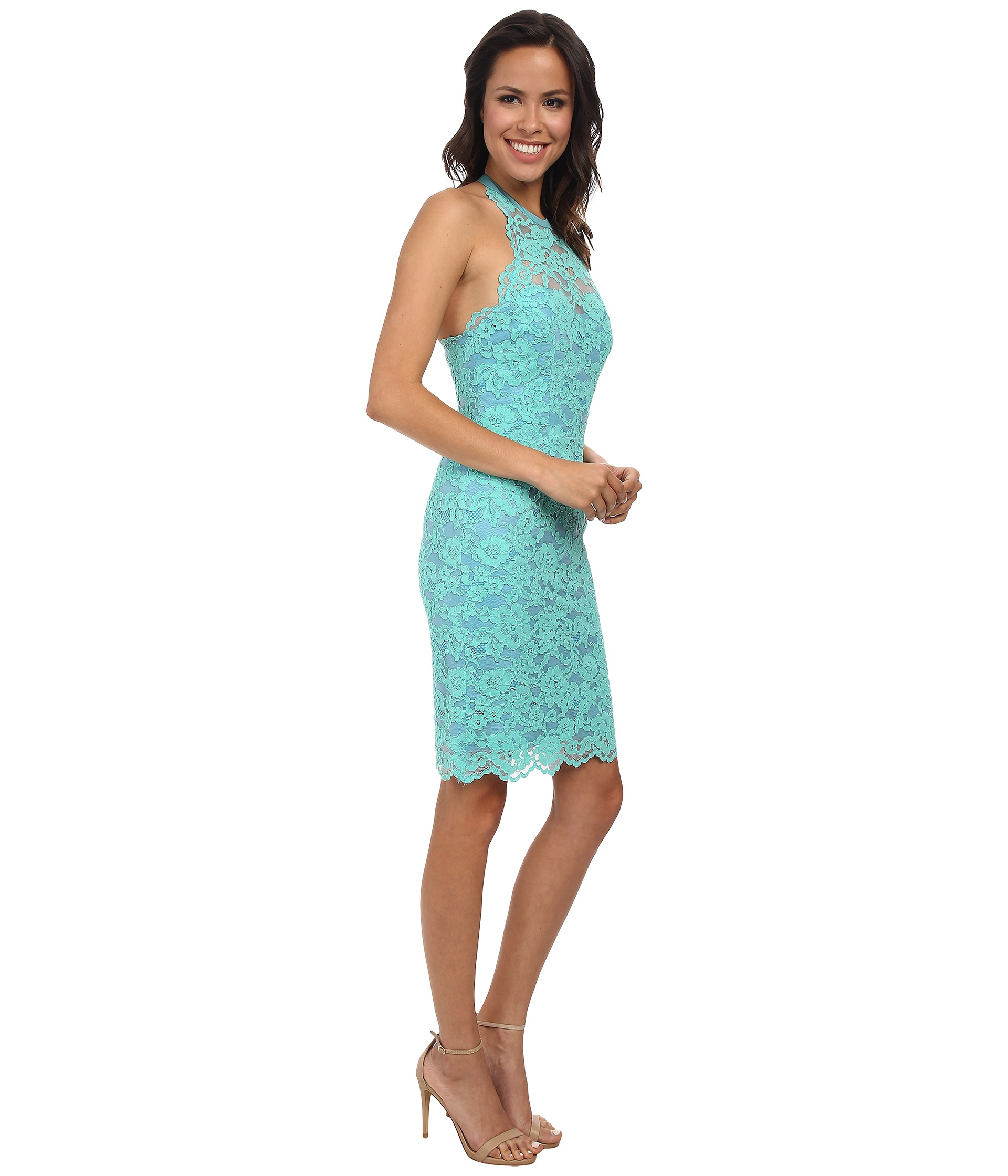 Lyst - Nicole Miller Cordelia Lace Party Dress in Blue