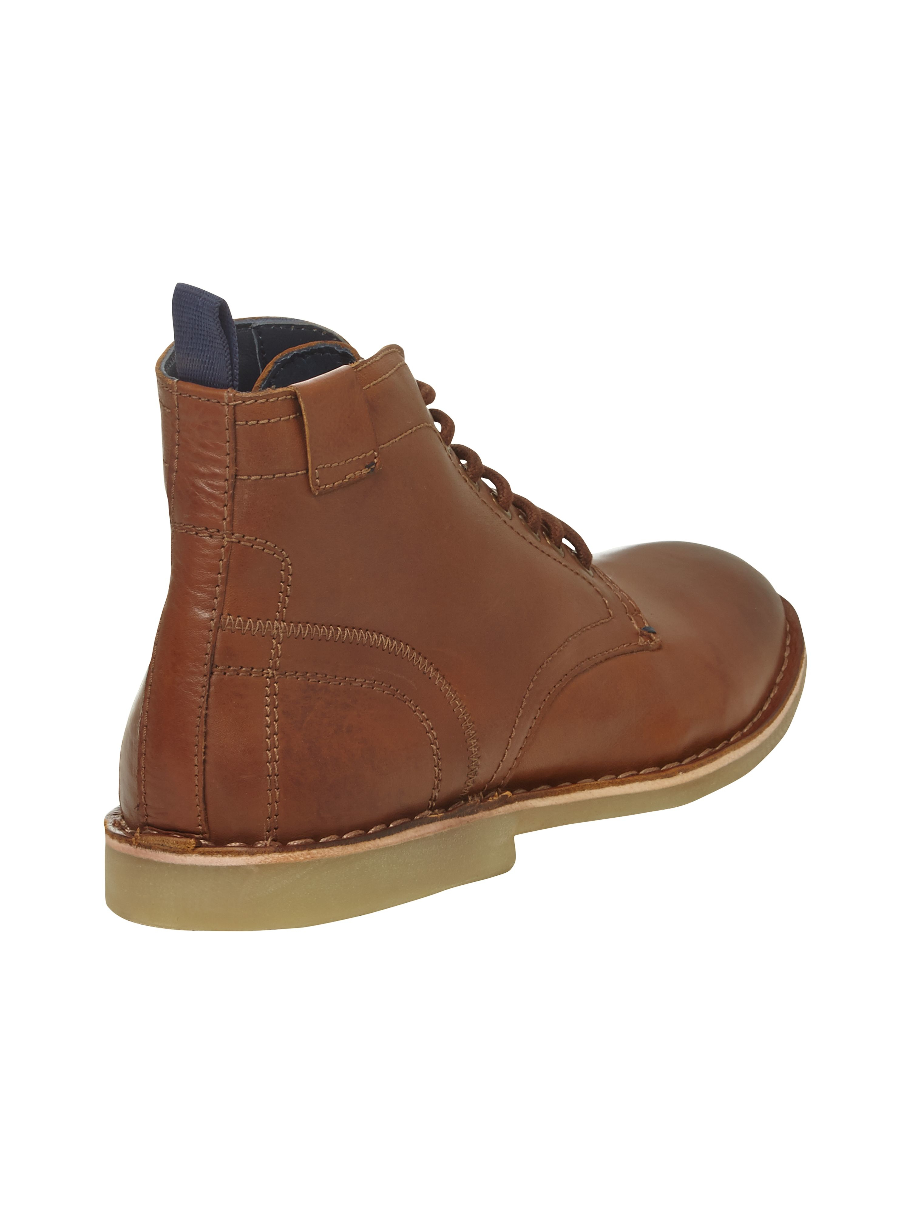 white stuff george lace up boots in brown for lyst