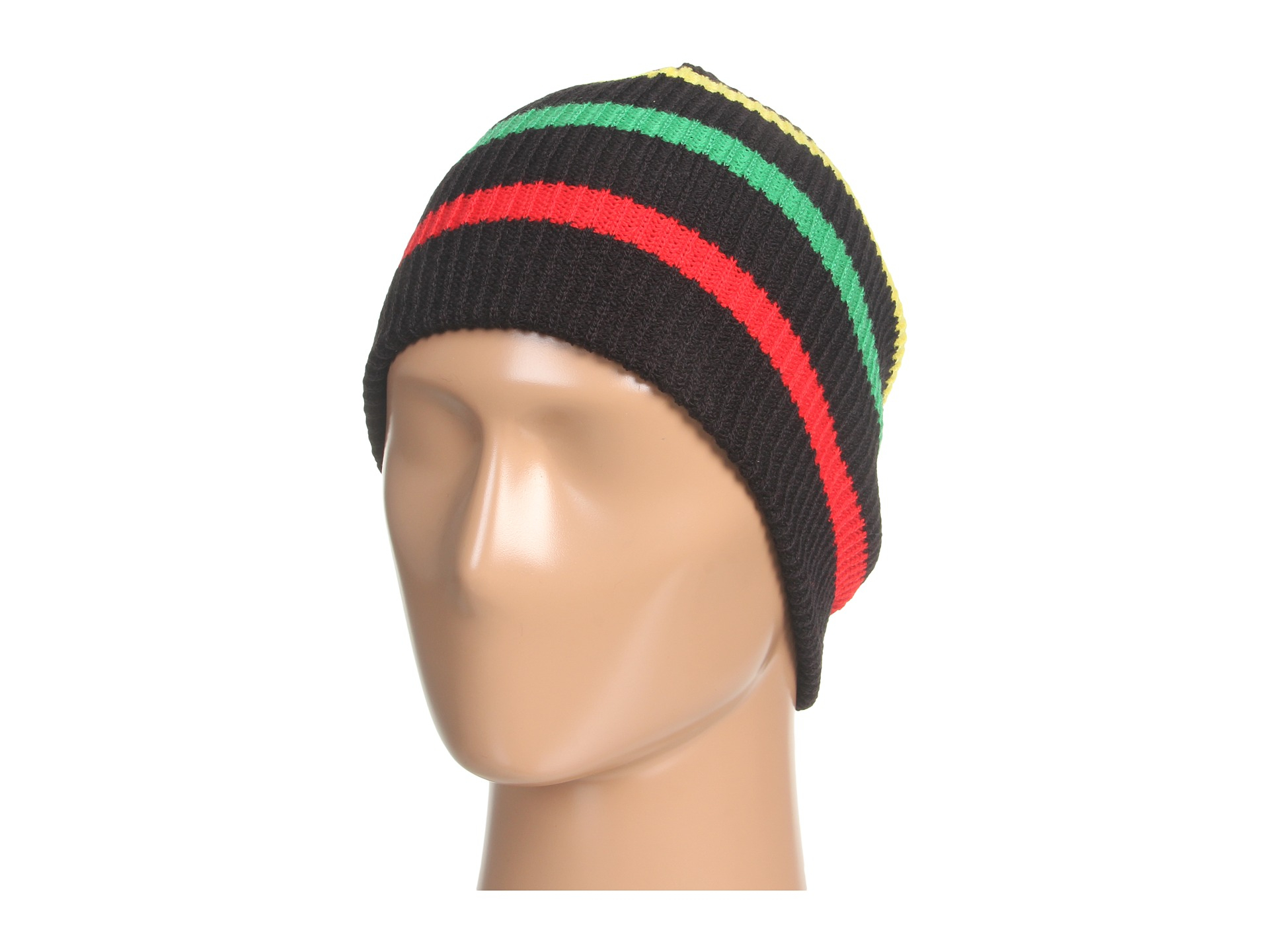 7f16f4e8a2c Lyst - Neff Daily Stripe Beanie in Black
