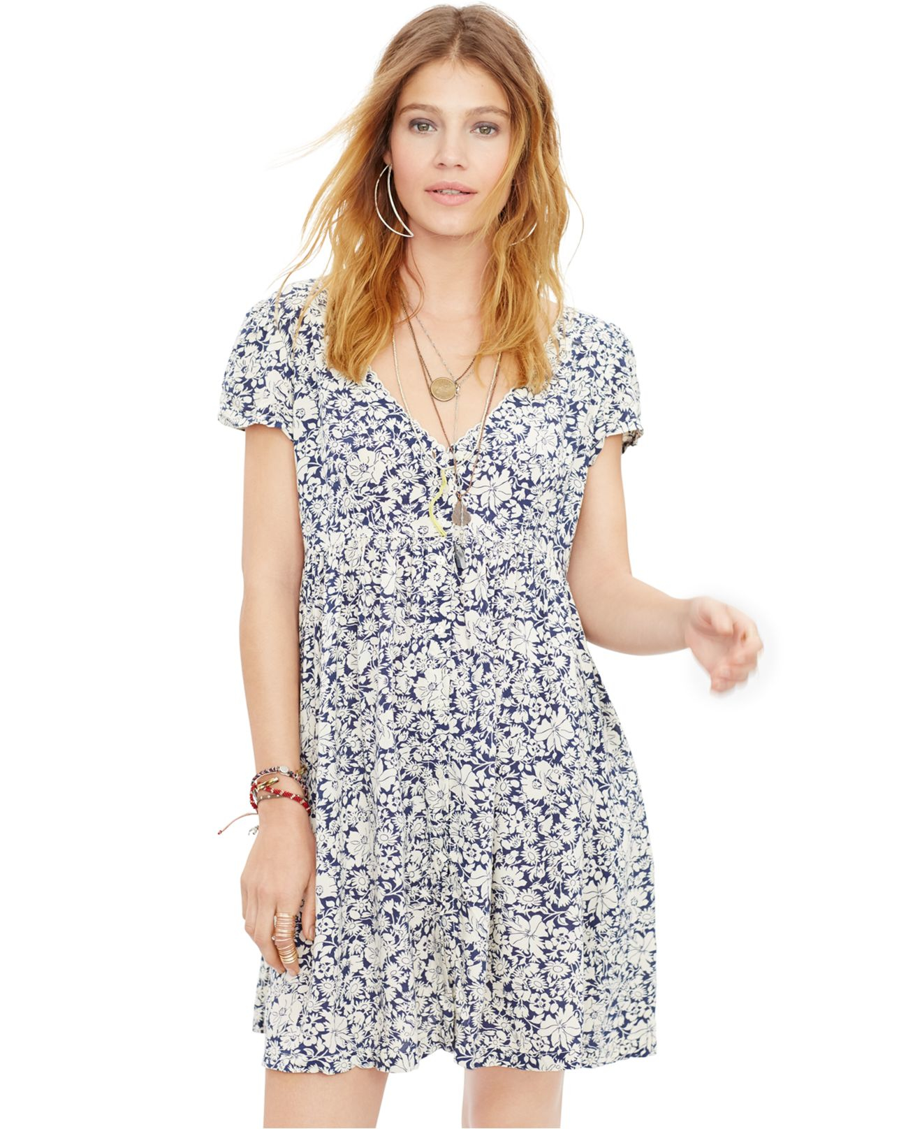 Lyst Denim & Supply Ralph Lauren Floral print Babydoll Dress