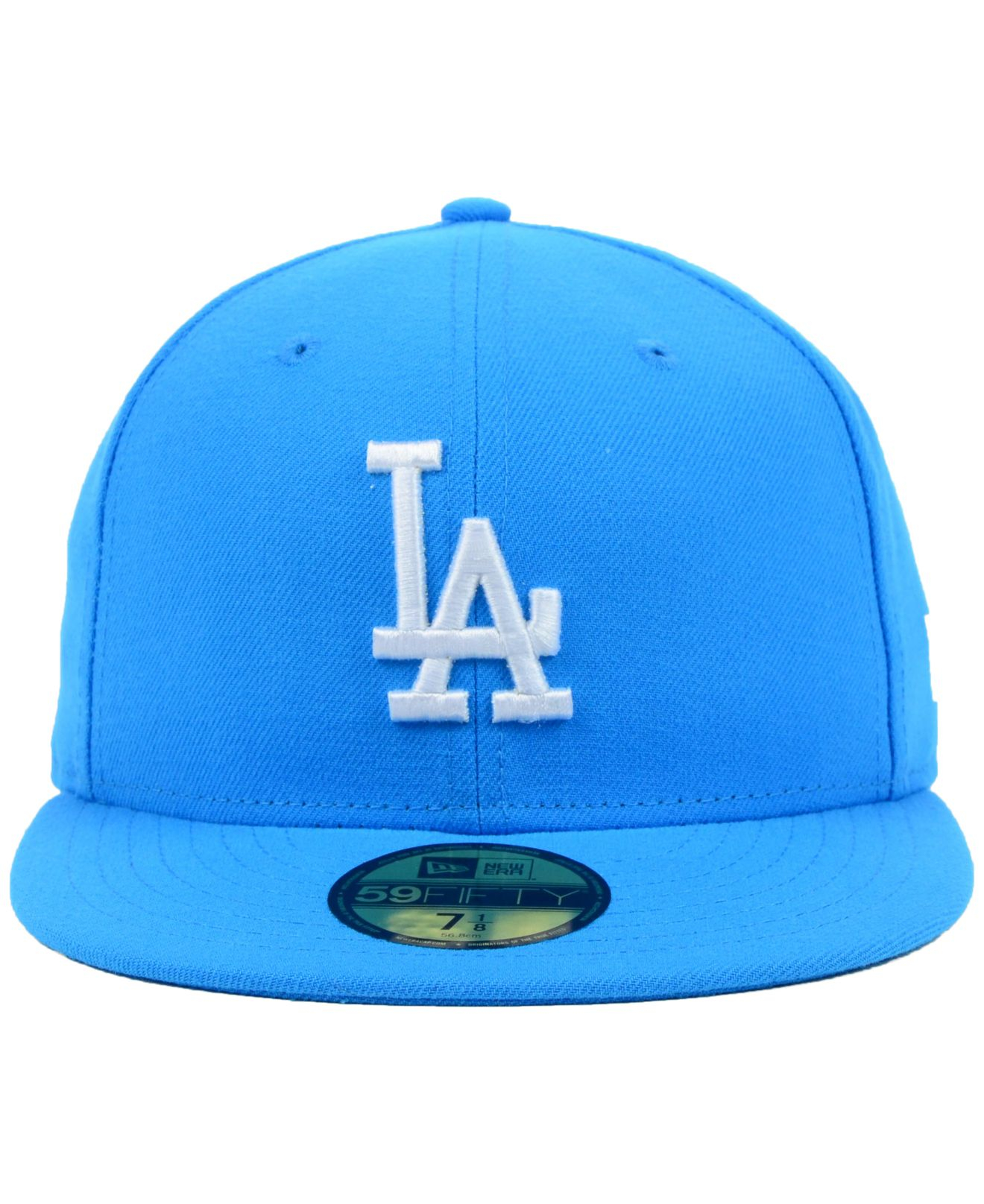 detailed look 5ad1c 32d87 ... low price lyst ktz los angeles dodgers mlb c dub 59fifty cap in blue for  men ...