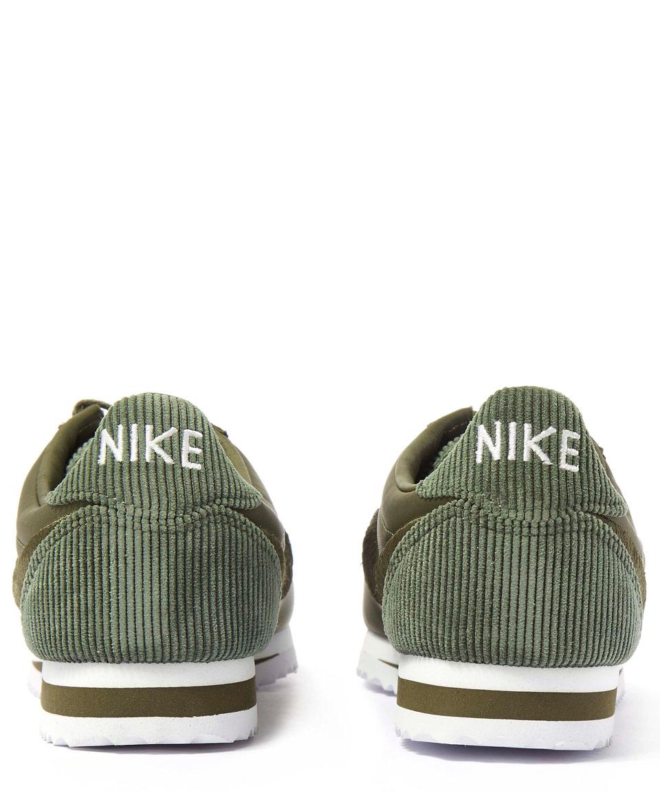 super popular ed6fb 2683c Nike Olive Classic Cortez Trainers in Green - Lyst
