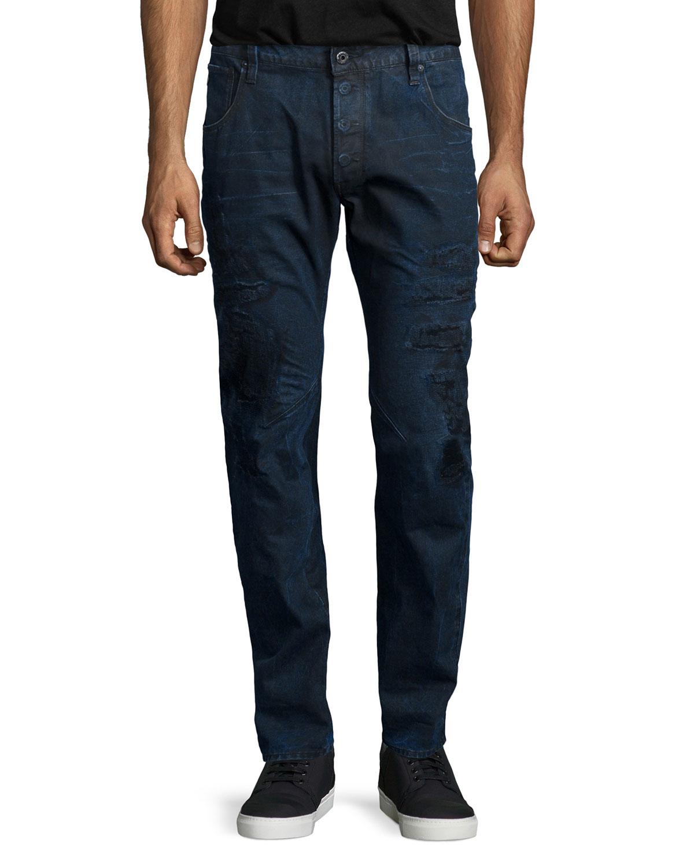 g star raw arc 3d pacific slim denim jeans in blue for men. Black Bedroom Furniture Sets. Home Design Ideas