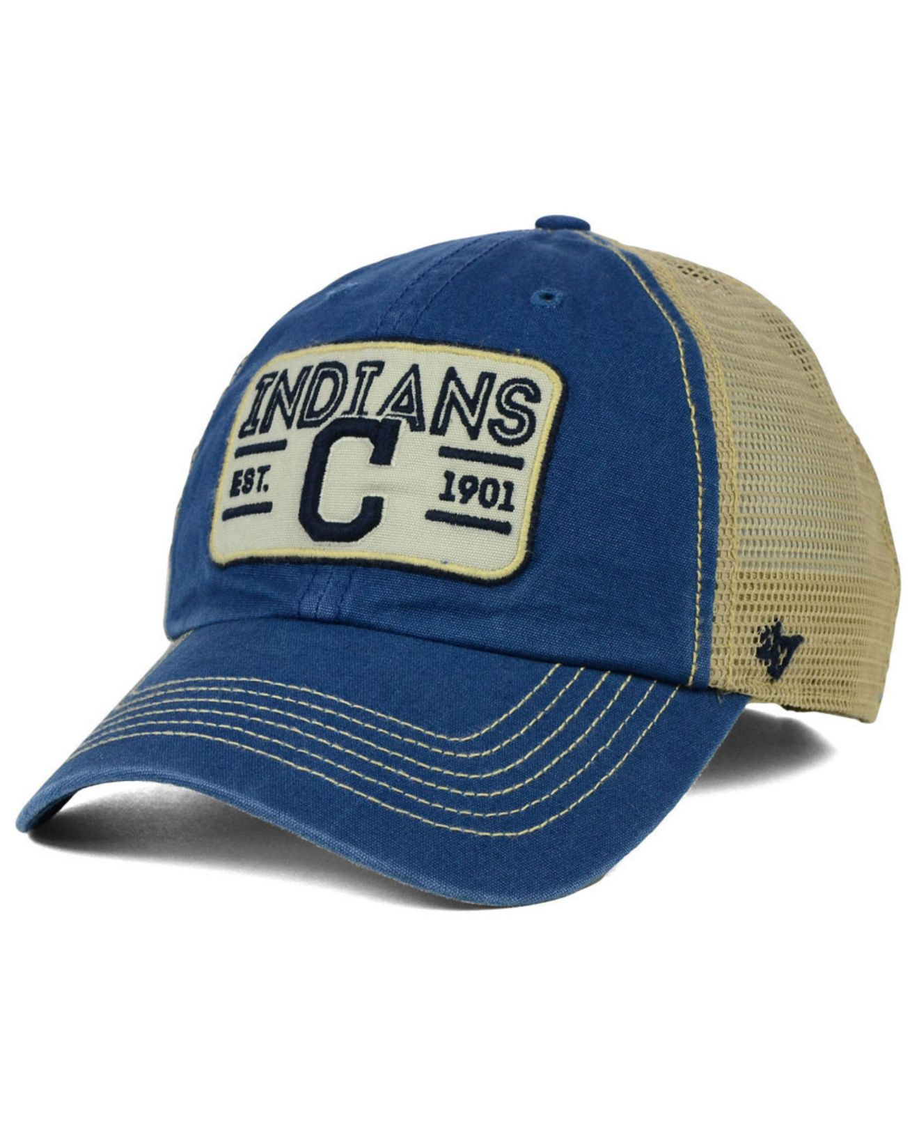 online store 621ae 6569f ... aliexpress lyst 47 brand cleveland indians goin yard mesh cap in blue  for men 85bc2 16e16