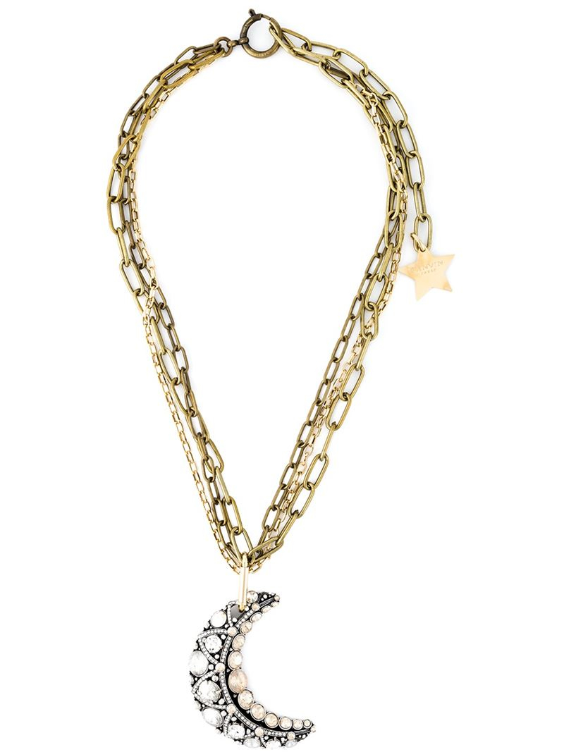 Lanvin embellished stone necklace - Metallic g0yEsNz0