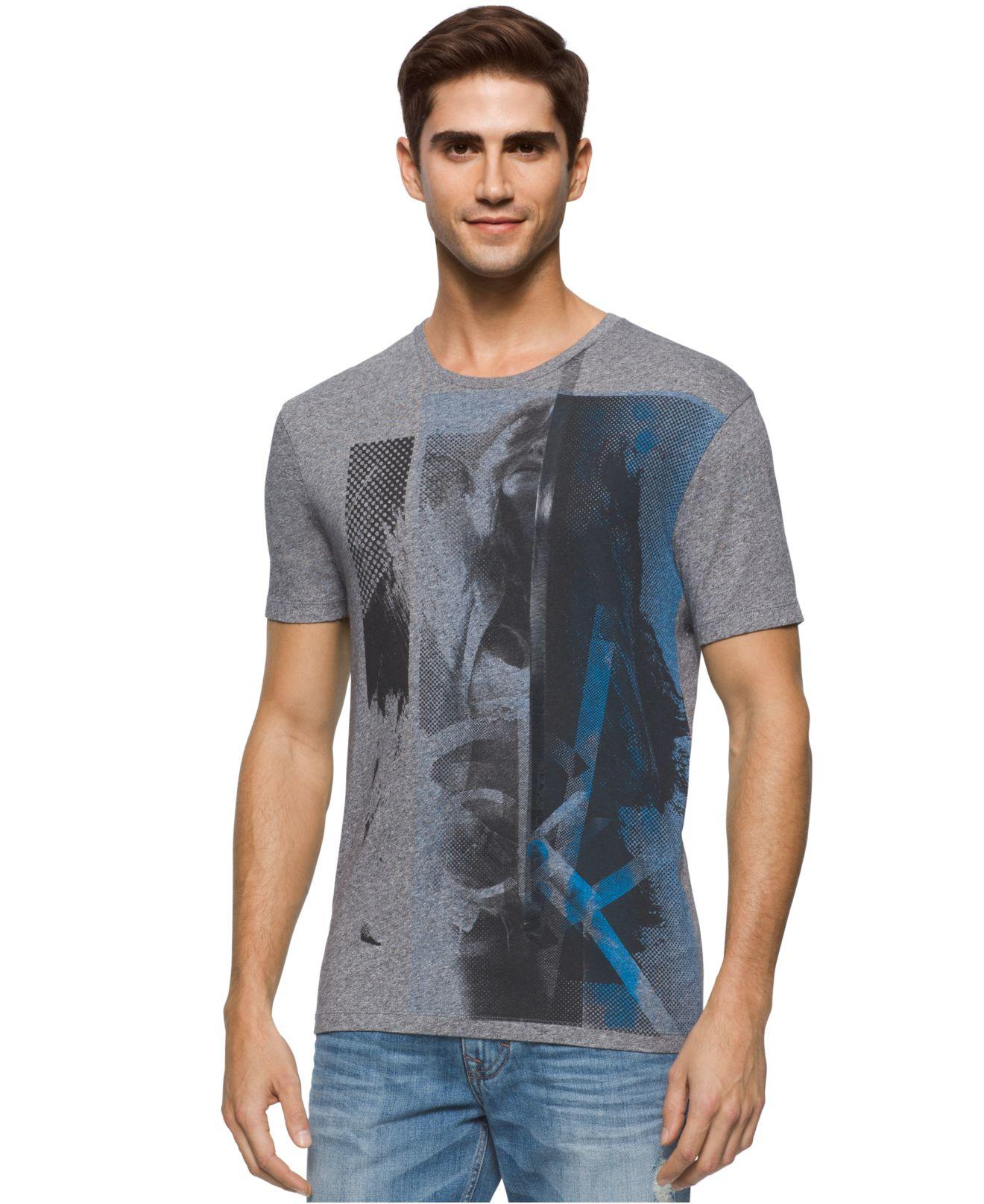 calvin klein jeans men 39 s silhouette graphic print t shirt. Black Bedroom Furniture Sets. Home Design Ideas