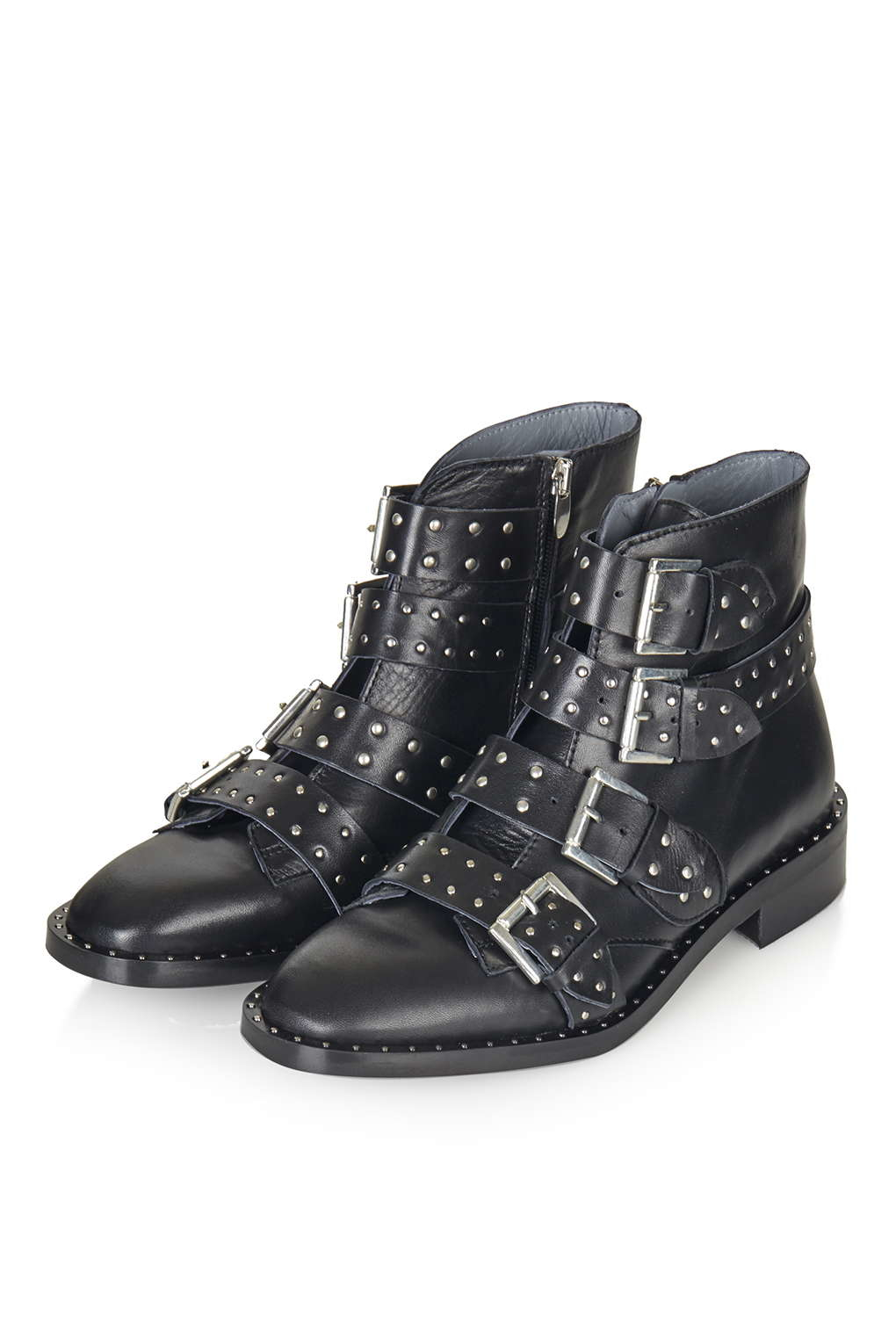 topshop limited edition leather boots in black lyst
