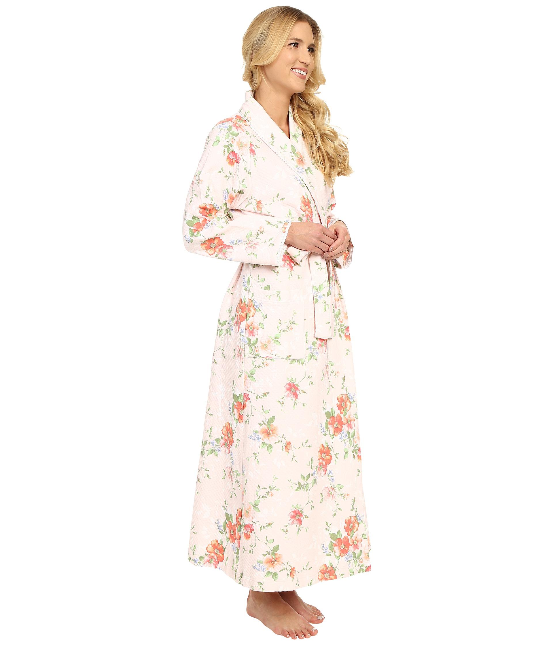 Lyst - Carole Hochman Long Shawl Collar Robe in Pink