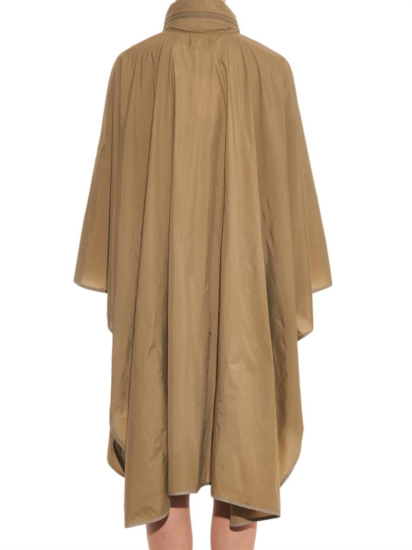Lyst Isabel Marant Gamble Poncho Raincoat In Natural