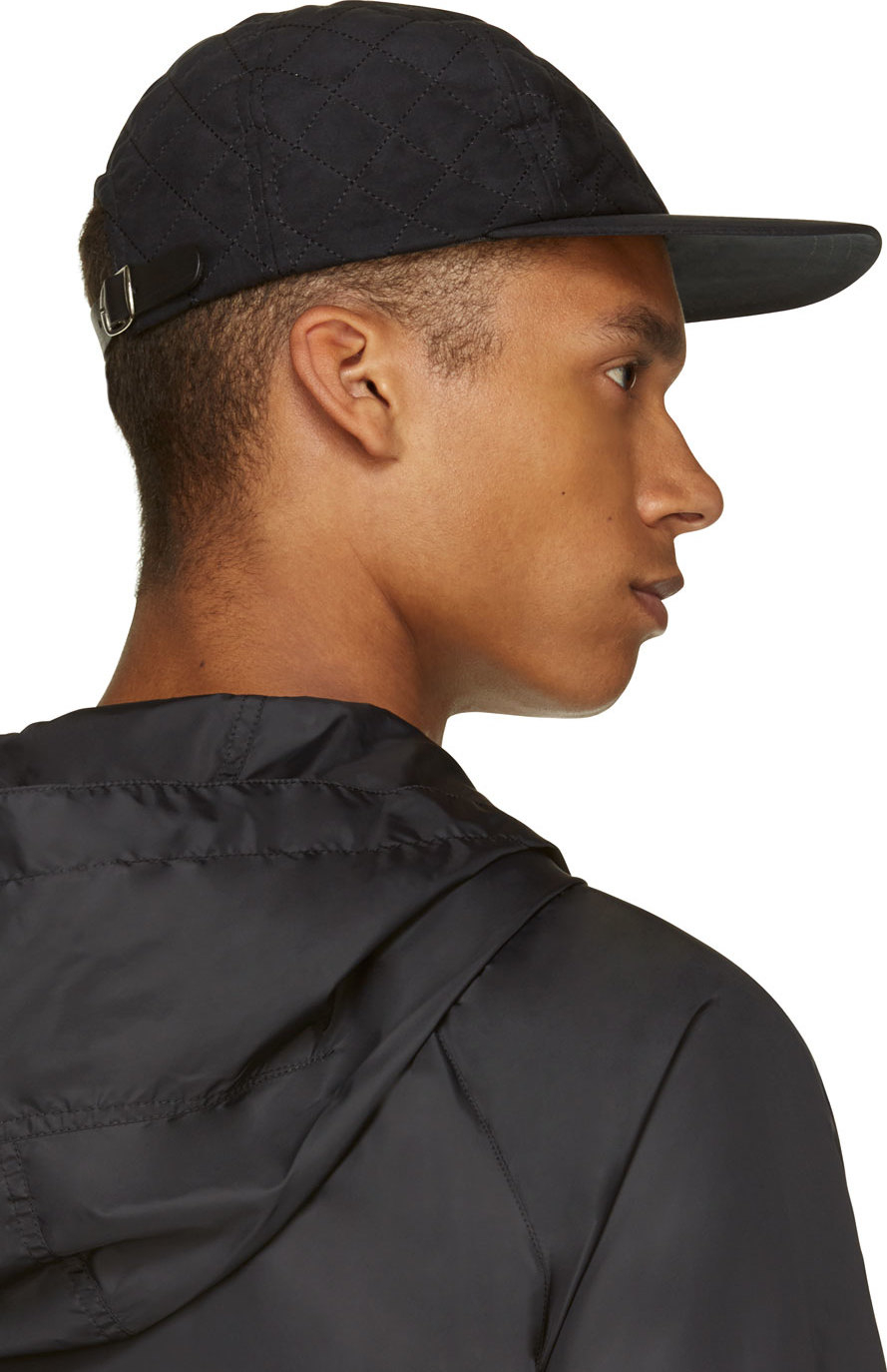 Lyst - A.P.C. Black Quilted Cap in Black for Men 98b1f495bb8