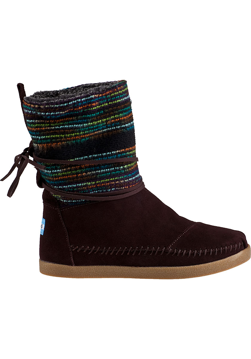 toms nepal boot brown suede in brown lyst