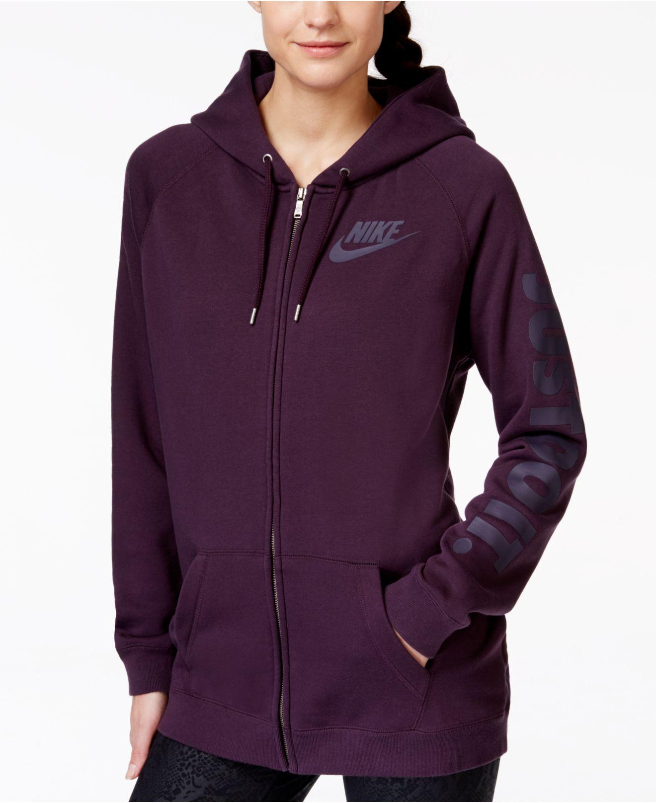 fa7d7369c395 Lyst - Nike Rally Zip-front Hoodie in Purple