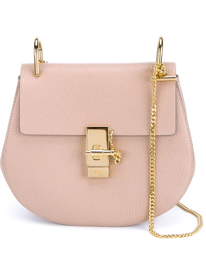 Chlo�� Small \u0026#39;drew\u0026#39; Shoulder Bag in Pink (PINK \u0026amp; PURPLE) | Lyst