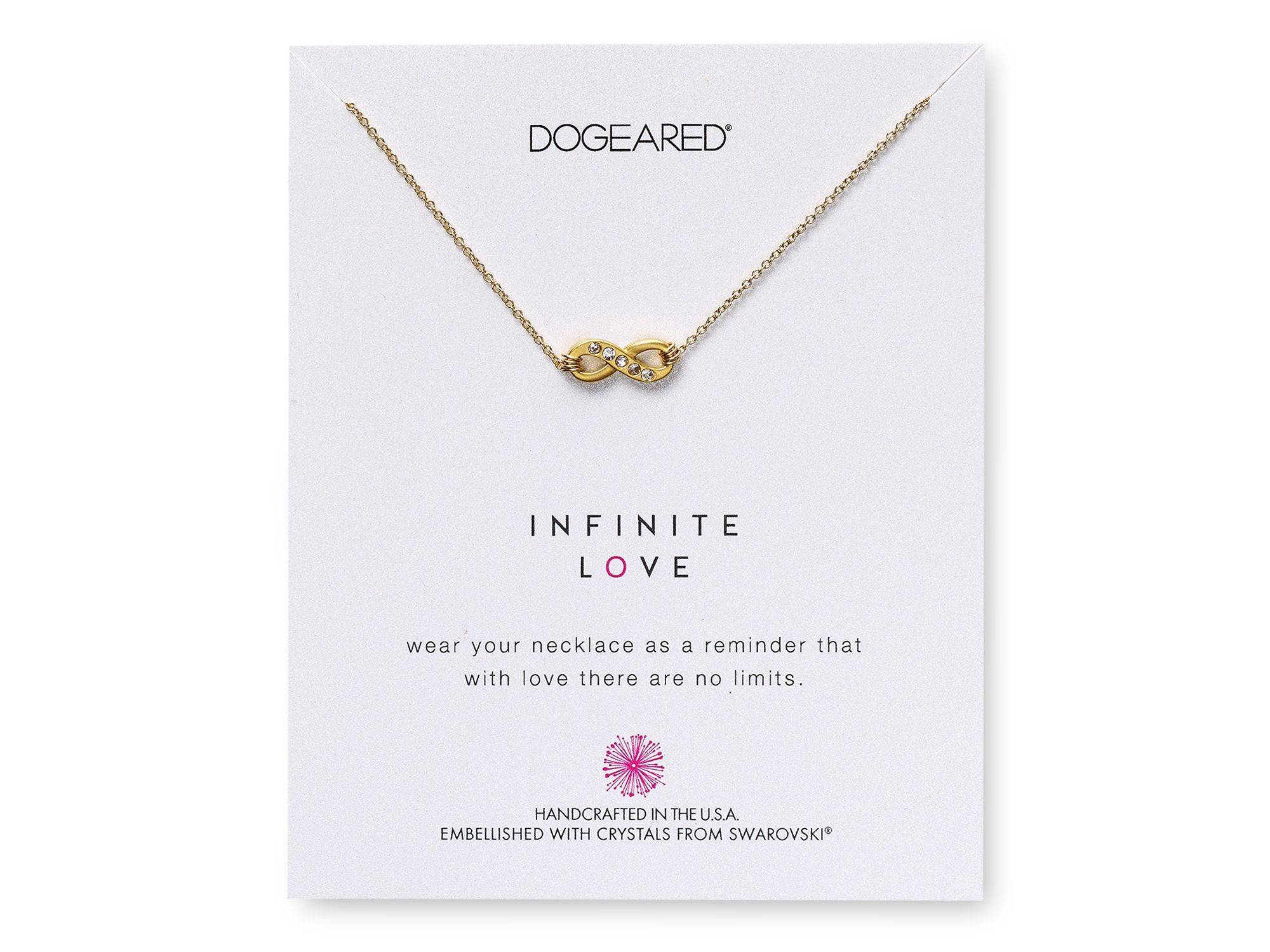 Lyst dogeared swarovski crystal infinite love necklace 18 in gallery aloadofball Image collections