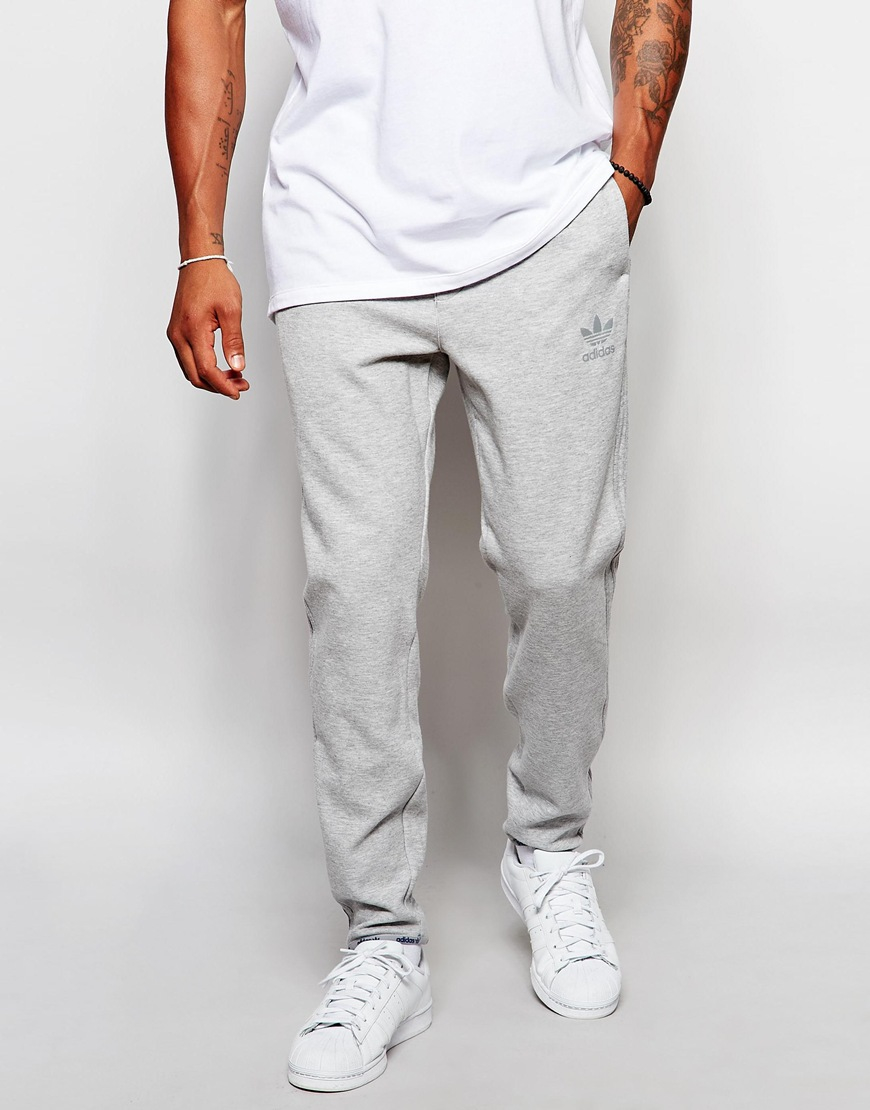 adidas Originals Fleece Trackpants Aj7888 - Grey in Gray for Men - Lyst af1943f79eaf