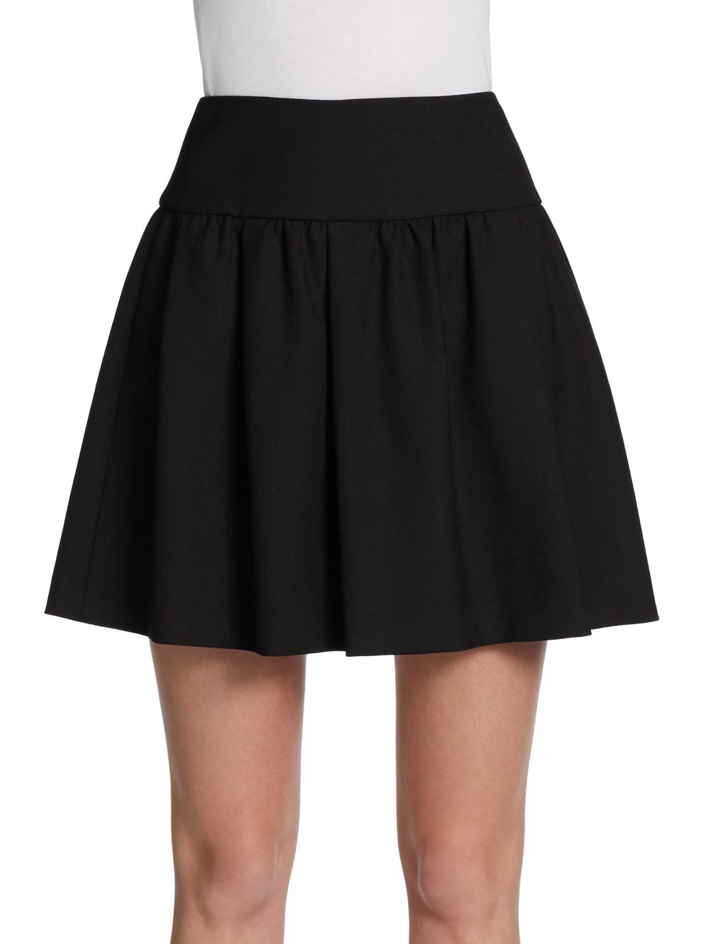 valentino pleated crepe mini skirt in black lyst
