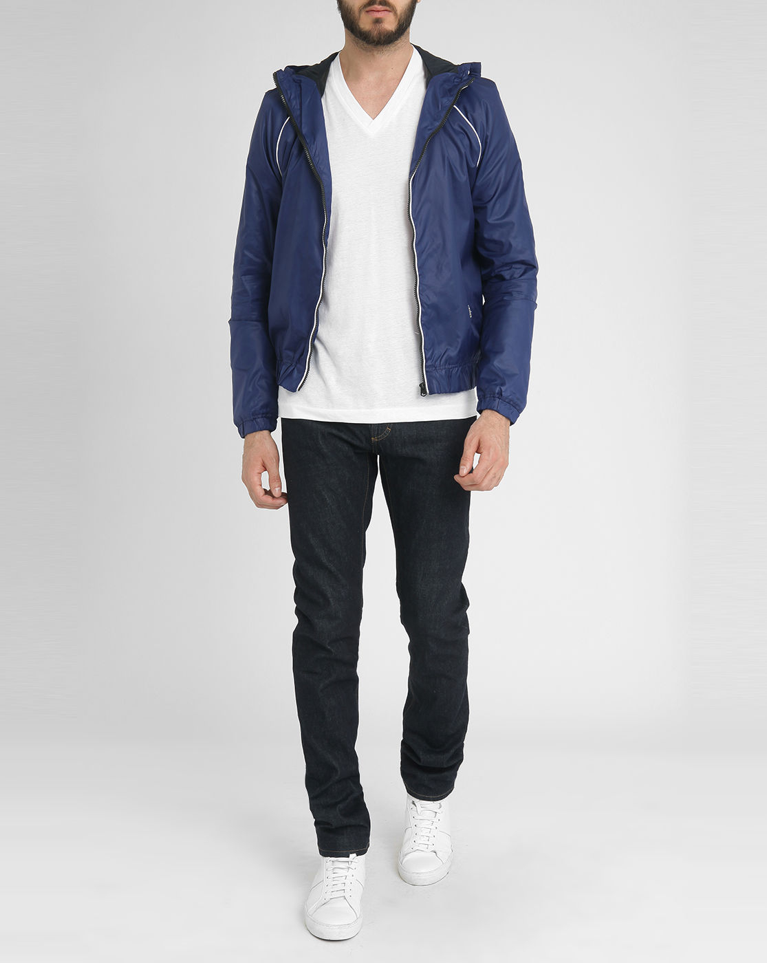 g star raw midder hdd blue nylon jacket in blue for men lyst. Black Bedroom Furniture Sets. Home Design Ideas