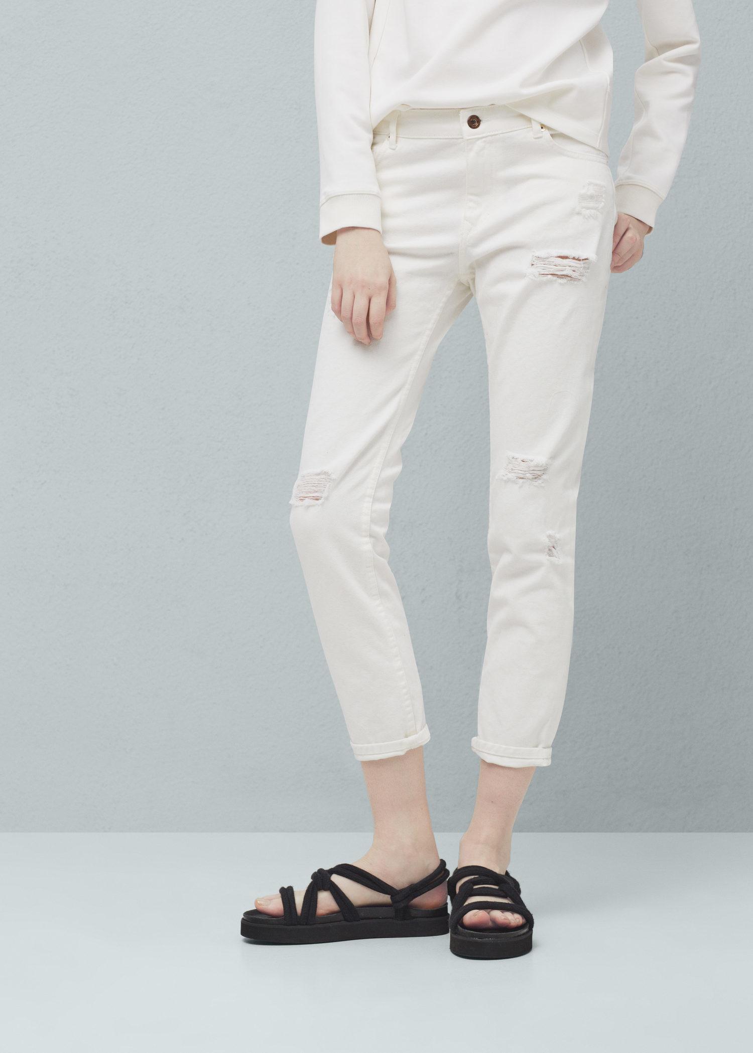 ce352bab2f Mango White Lyst Crop Relaxed In Jeans Nancy FxwfCdBq