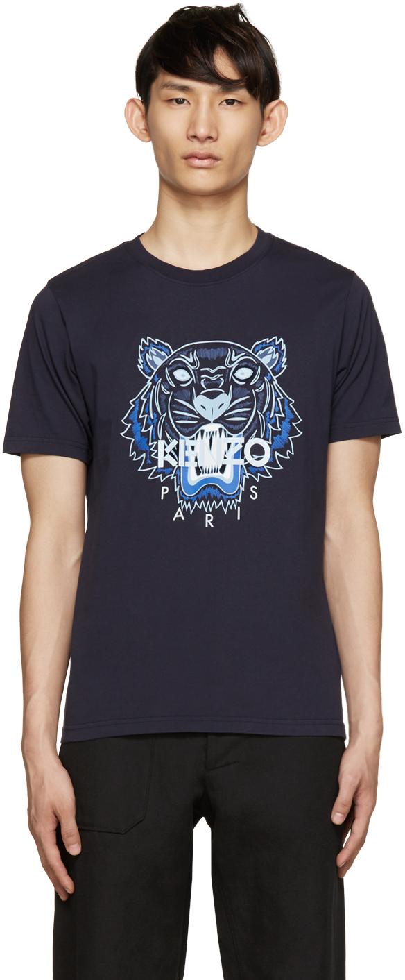 Kenzo Tiger T Men Navy In Shirt Lyst Logo For Blue TT51aWrqnR