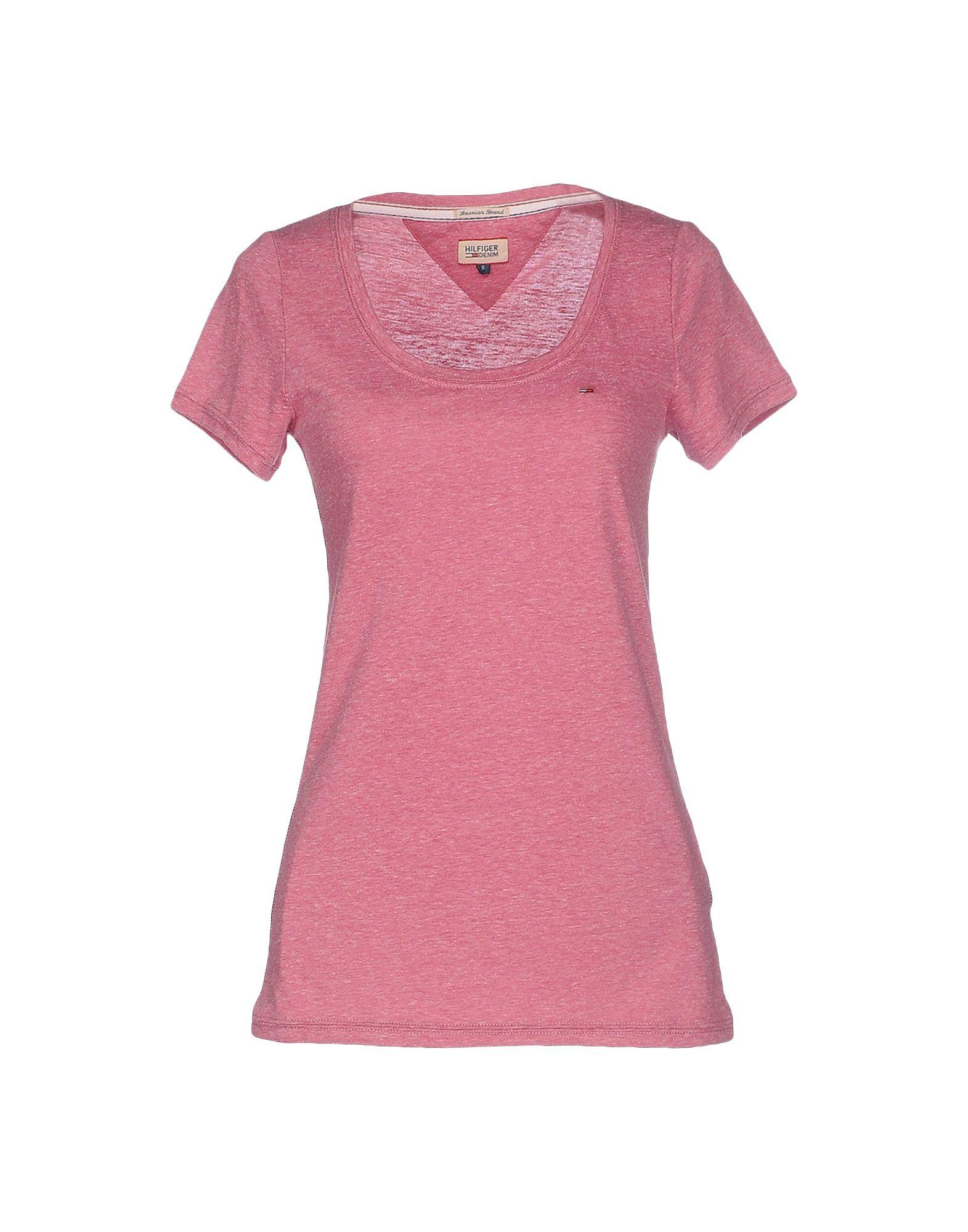 hilfiger denim t shirt in pink pastel pink lyst. Black Bedroom Furniture Sets. Home Design Ideas
