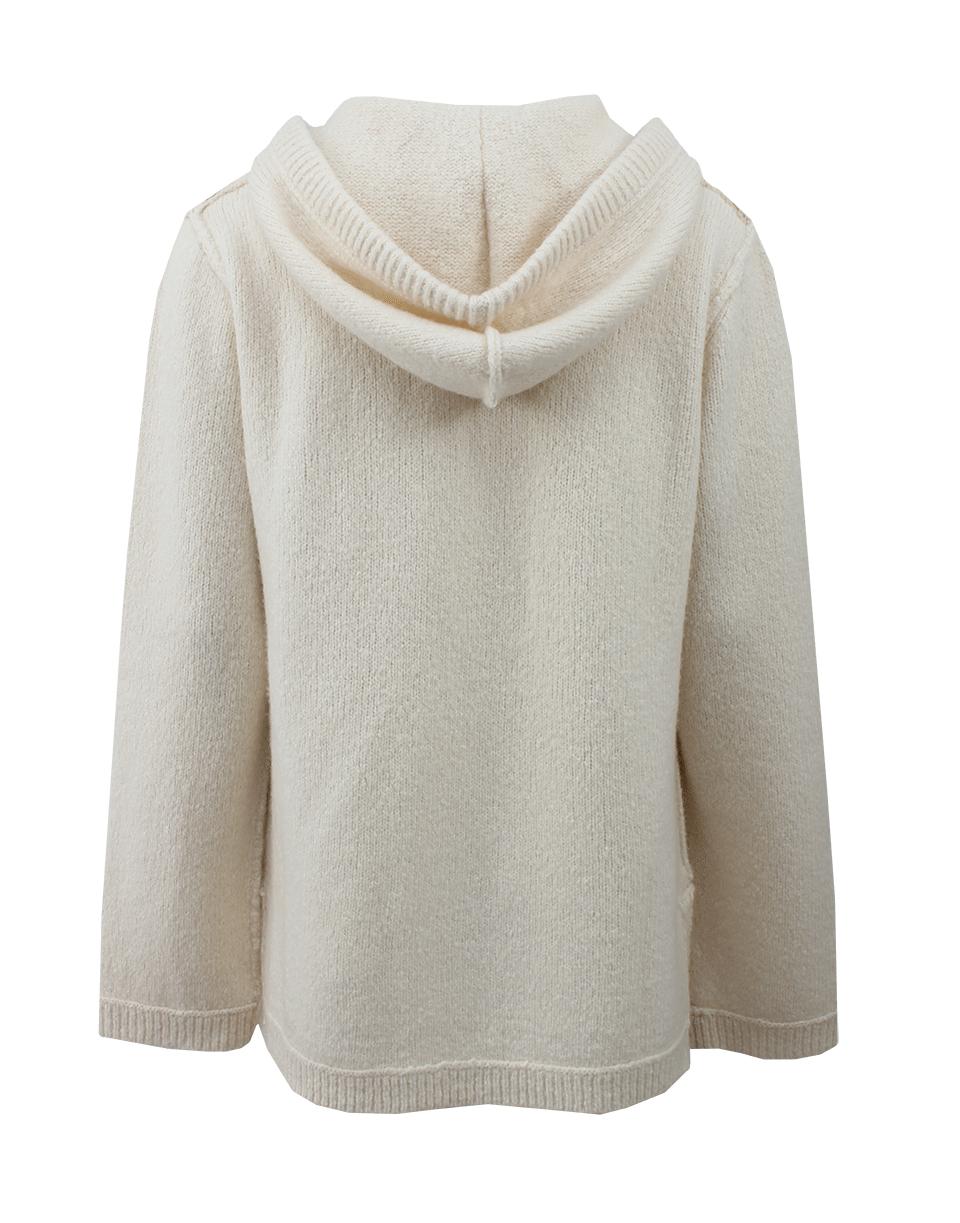 White baja hoodie