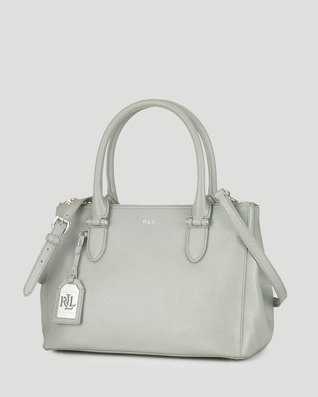 2d635ab03bc Lyst - Ralph Lauren Lauren Tote - Newbury Double Zip Shopper in Gray