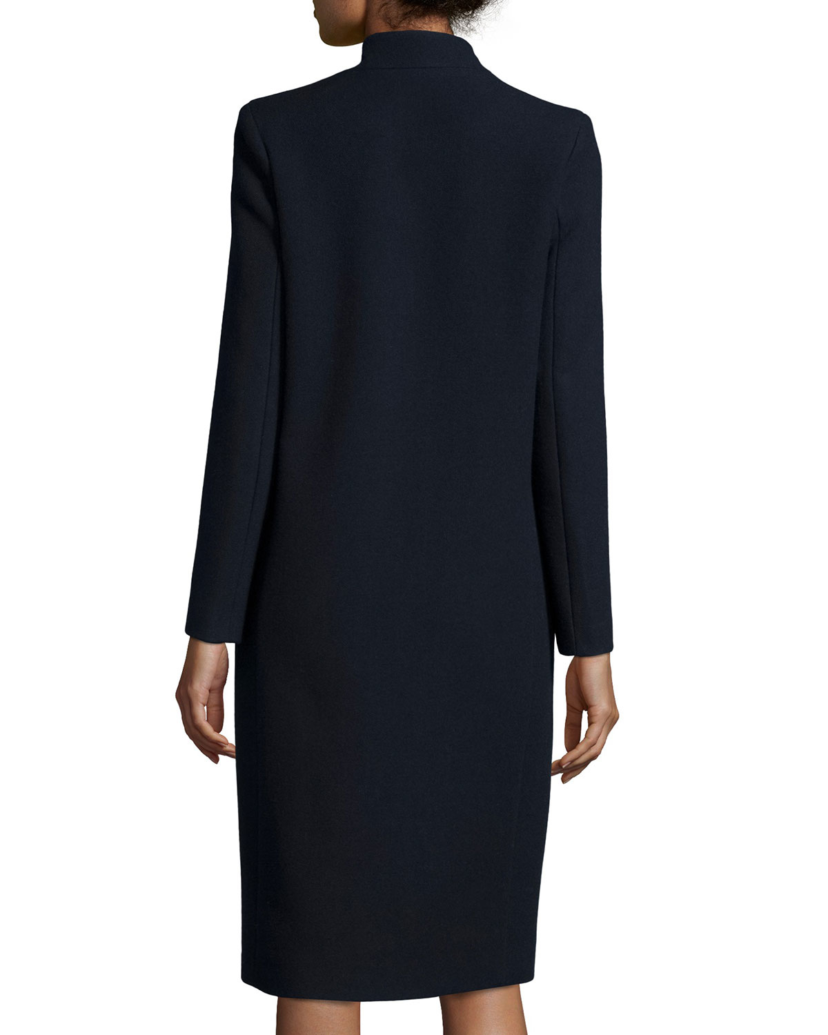 Lyst Iro Axter Long Wool Blend Coat In Blue
