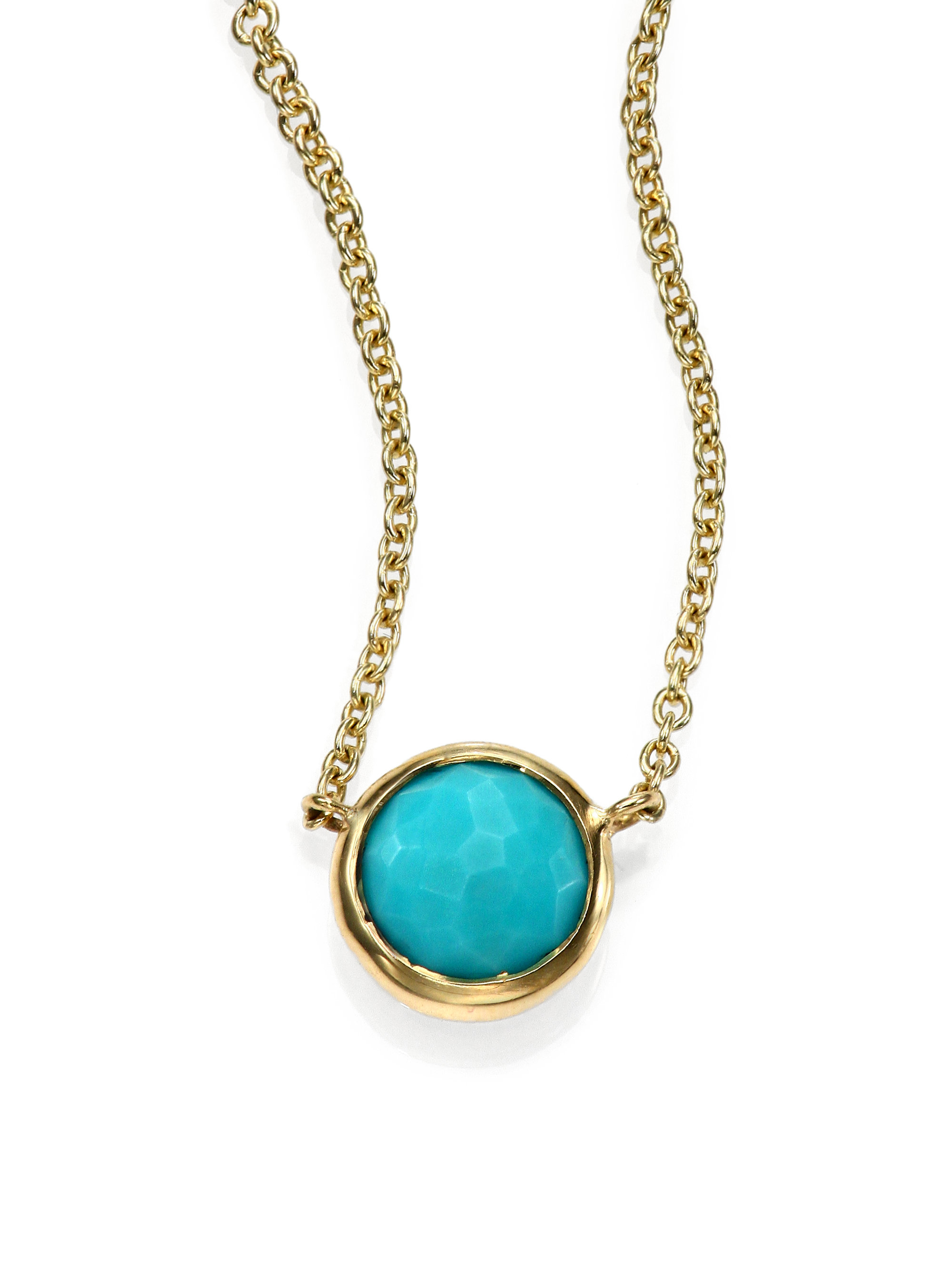 Lyst ippolita lollipop turquoise 18k yellow gold mini pendant gallery audiocablefo