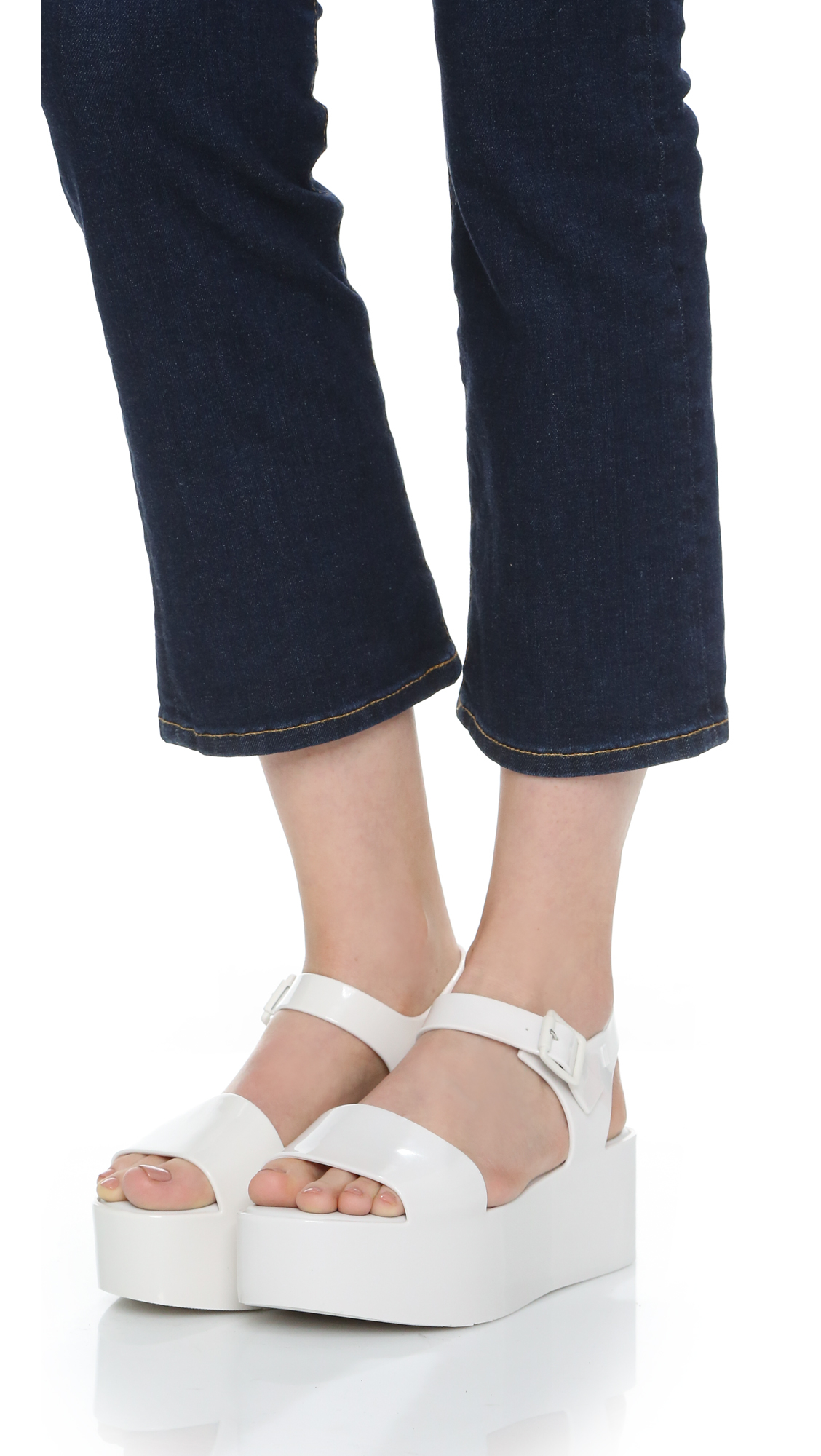 bd699f35c91d Gallery. Previously sold at  Shopbop · Women s White Platform Wedges  Women s Flatforms ...