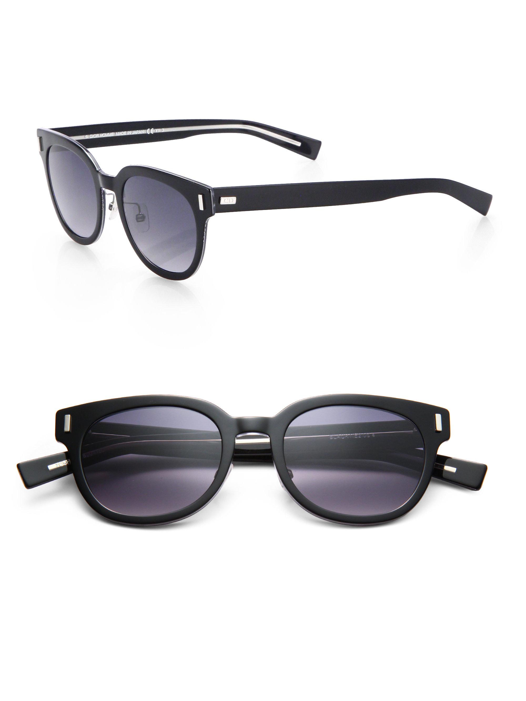 509ab1065154f Dior Homme Black Tie Acetate Sunglasses in Black for Men - Lyst
