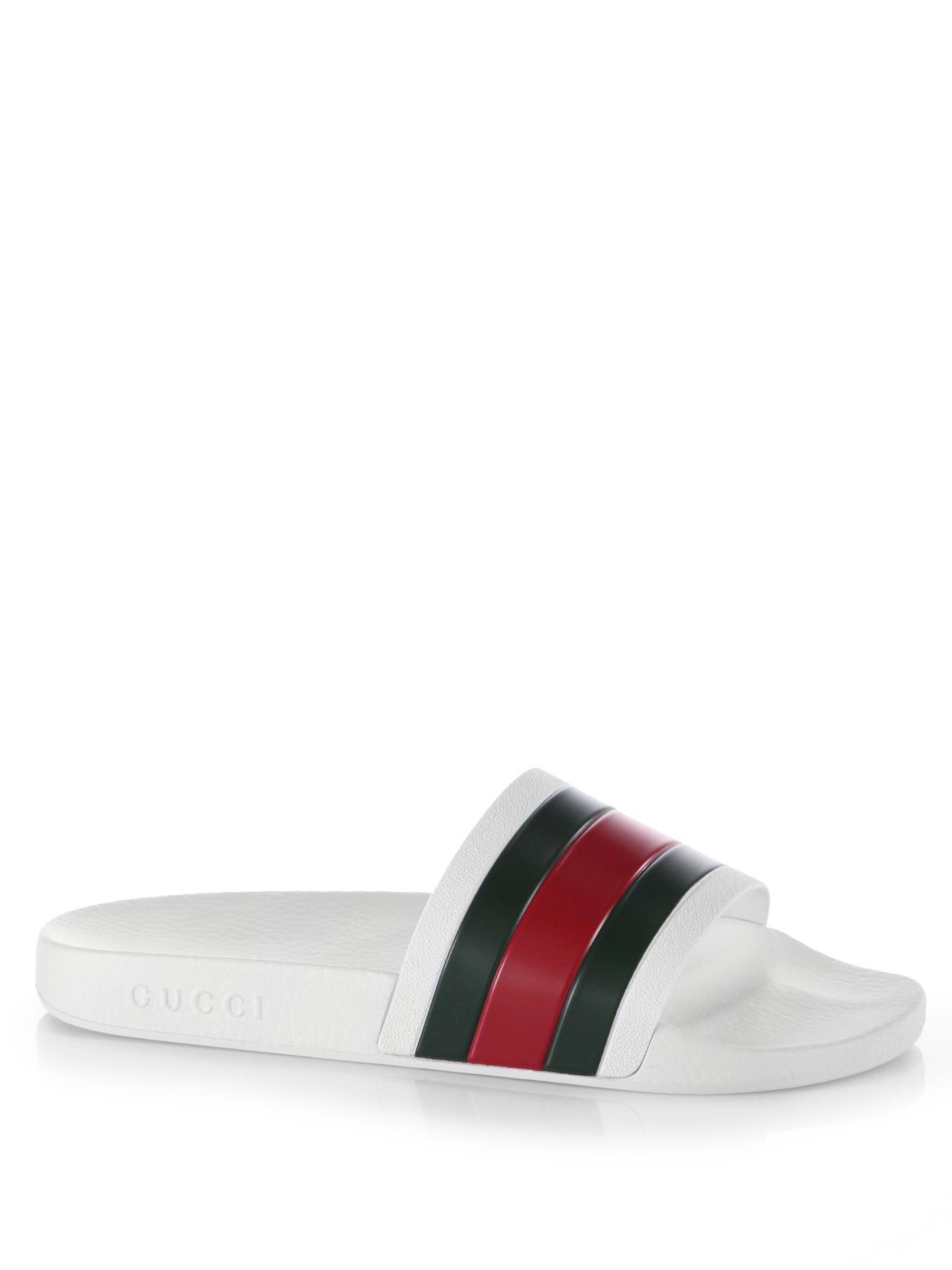 310ba2dd89fa9 Gucci Slides On Sales. Gucci Pursuit 72 Rubber Slides in White for Men