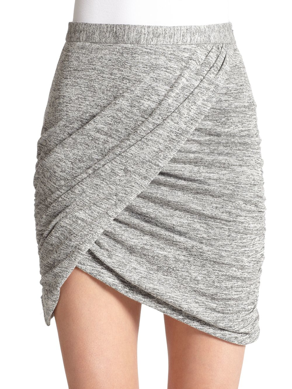 664571bcc1 Elizabeth and James Zayn Ruched Asymmetrical Wrap-effect Skirt in ...