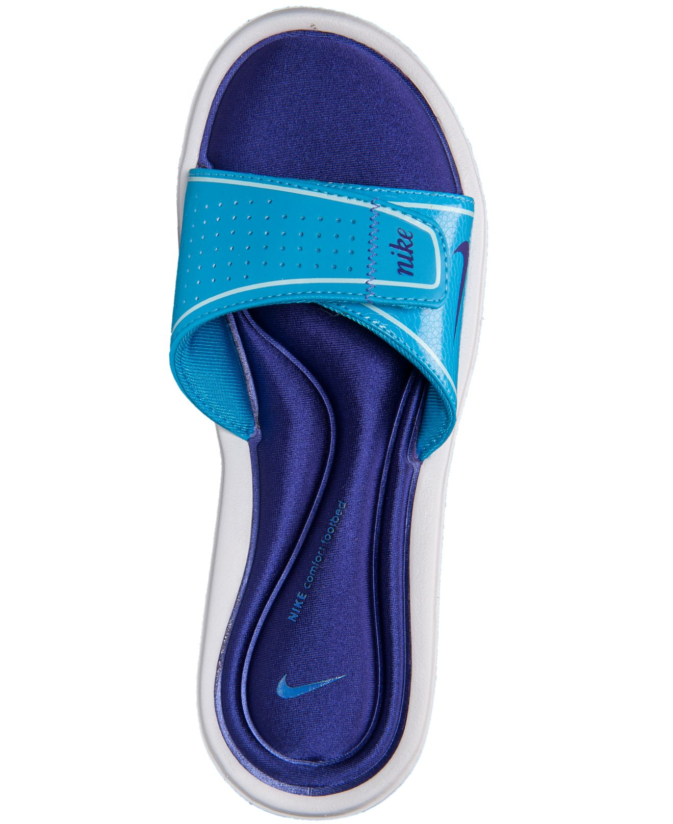 8bb804cc1e69 Lyst - Nike Women s Comfort Slide Sandals From Finish Line in Blue