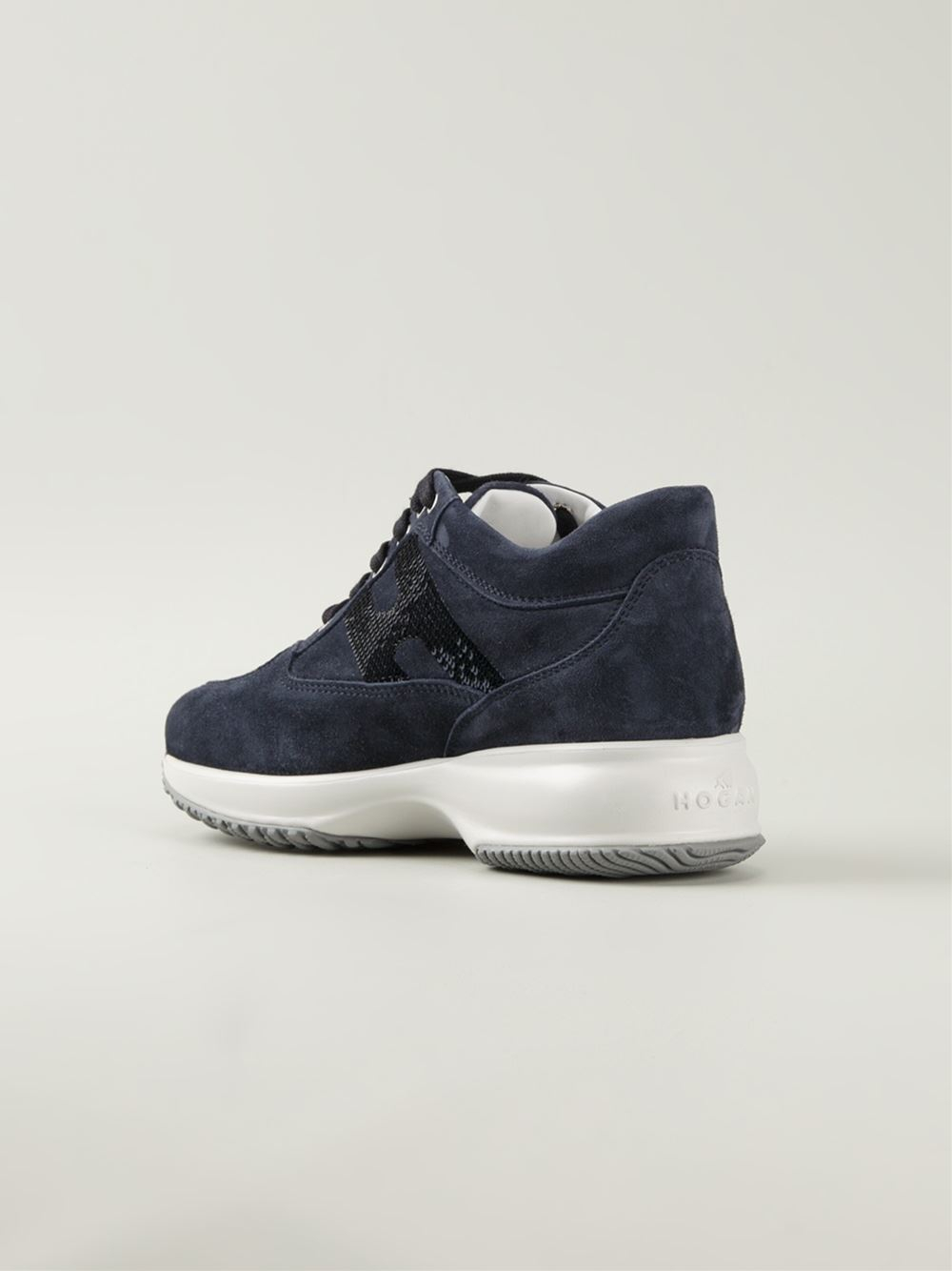 Alta qualit Hogan Interactive Sneakers Suede vendita