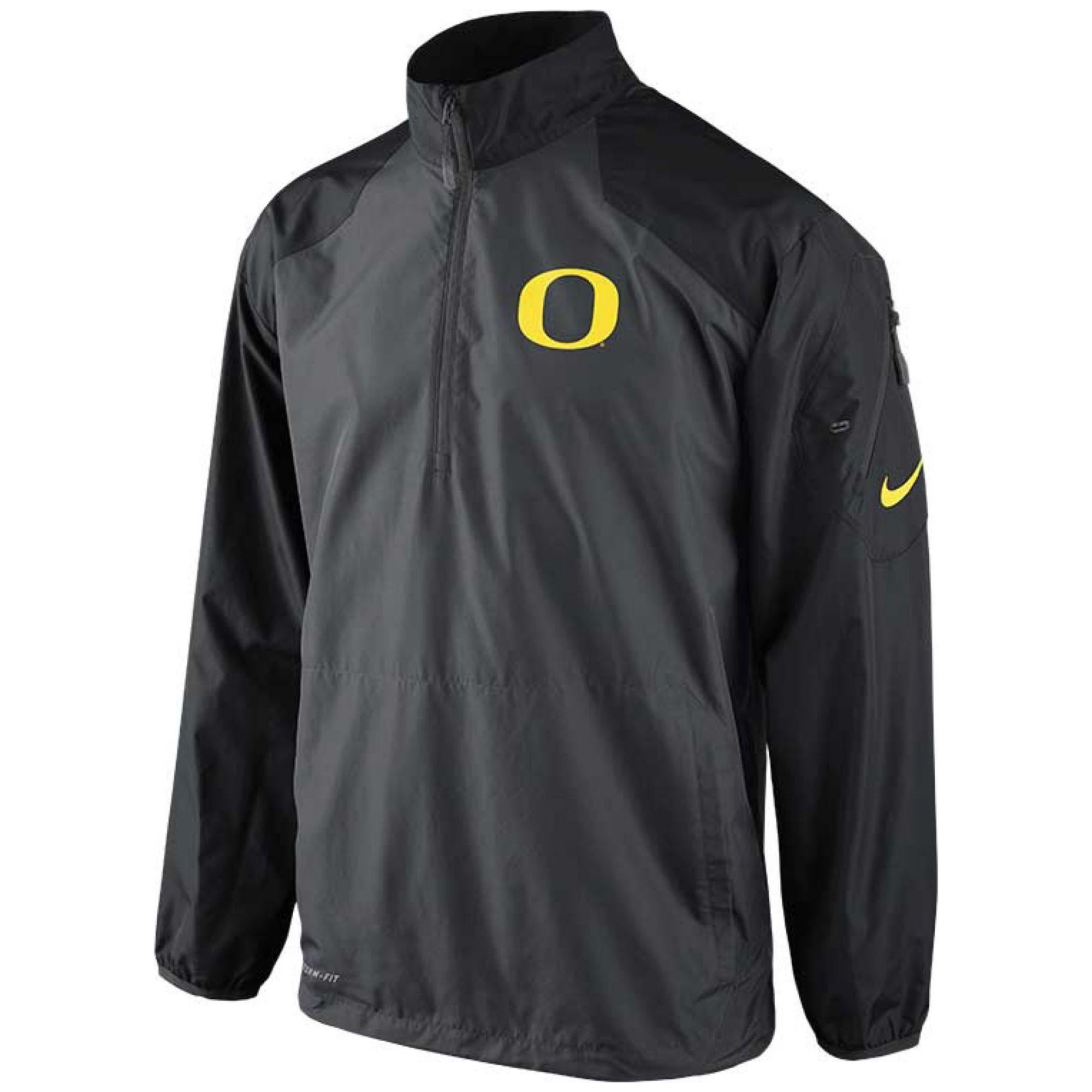 Lyst - Nike Mens Oregon Ducks Half Zip Pullover Jacket In Gray For Men