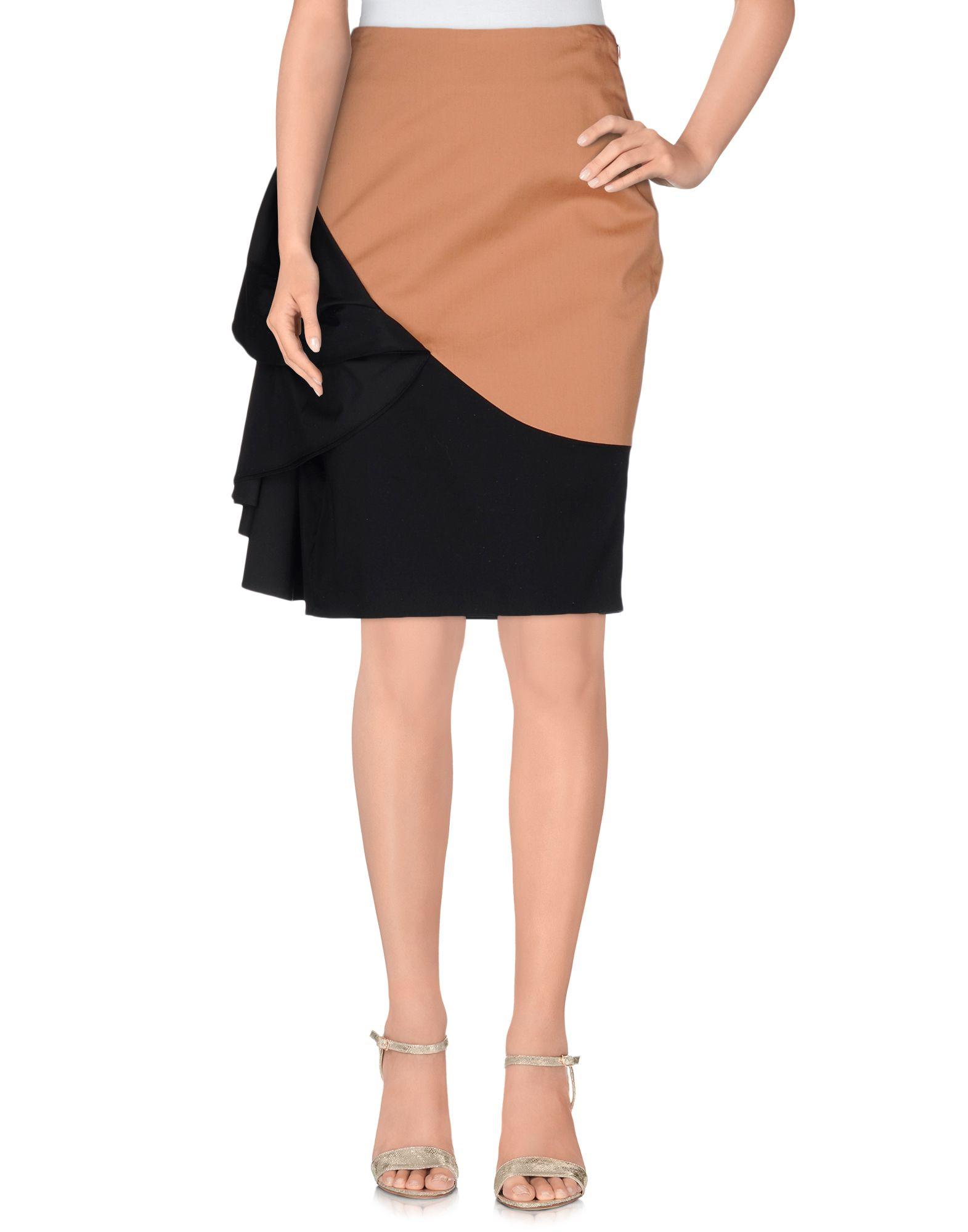 jean paul gaultier knee length skirt in lyst