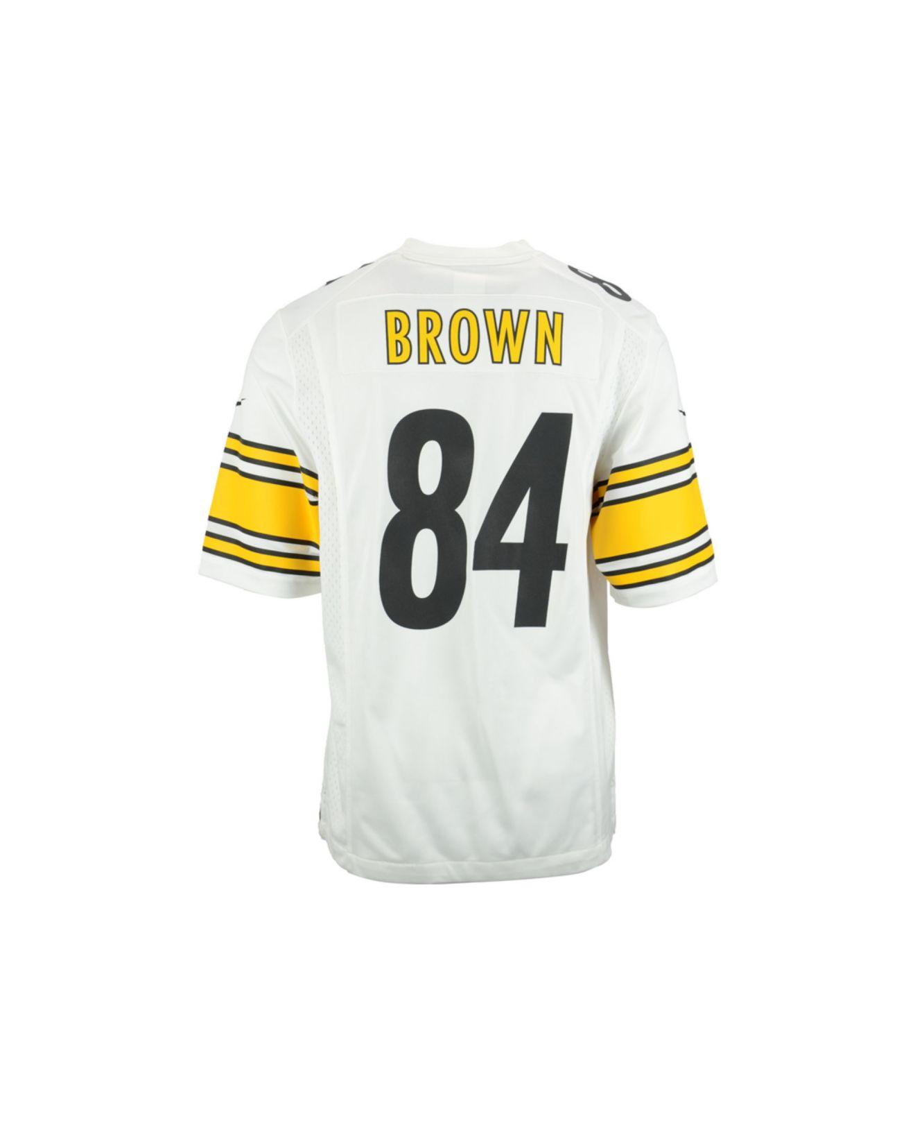 Men S Pittsburgh Steelers 84 Antonio Brown Nike Black