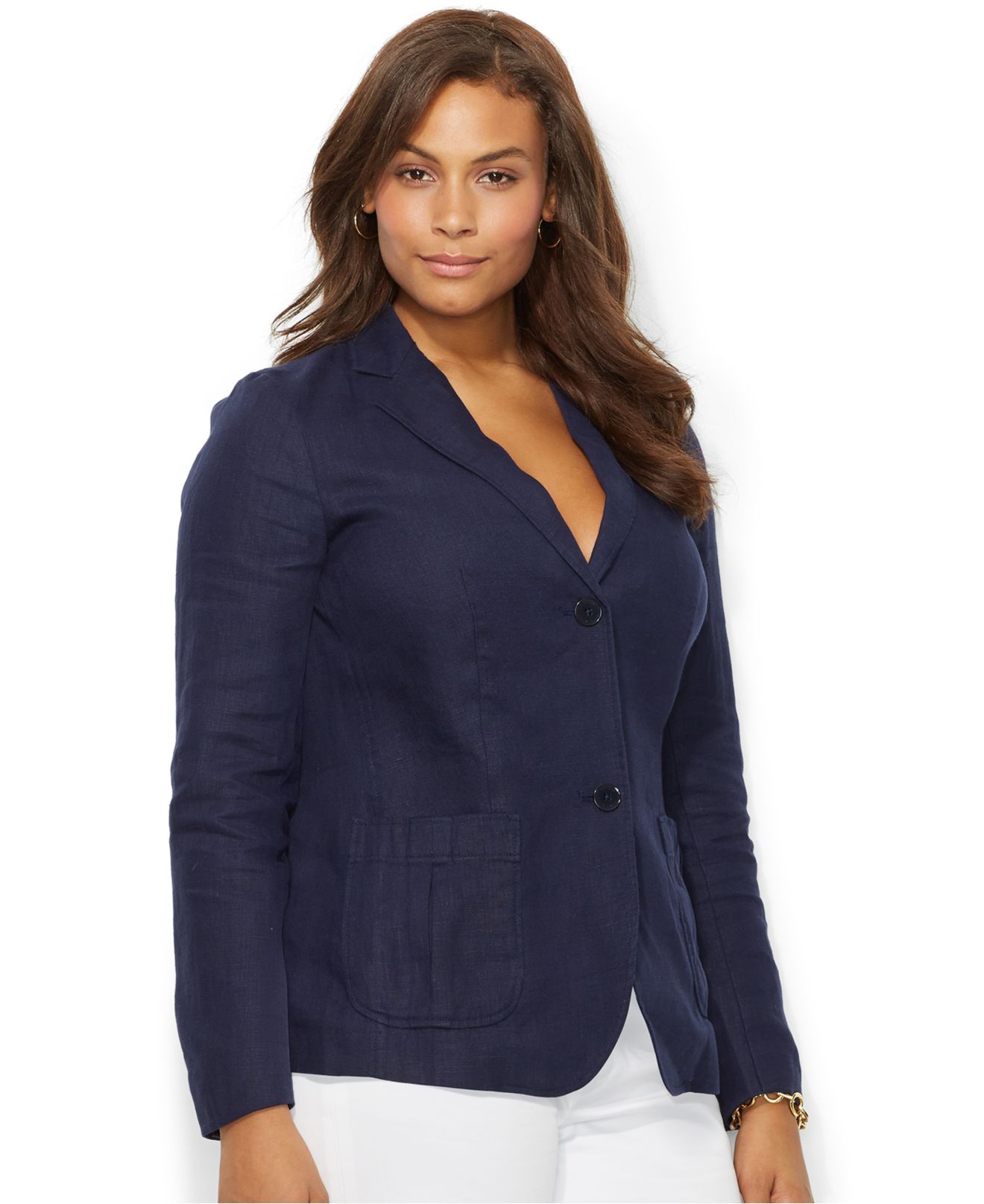 Lauren Ralph Lauren Väskor : Lyst lauren by ralph plus size two button linen