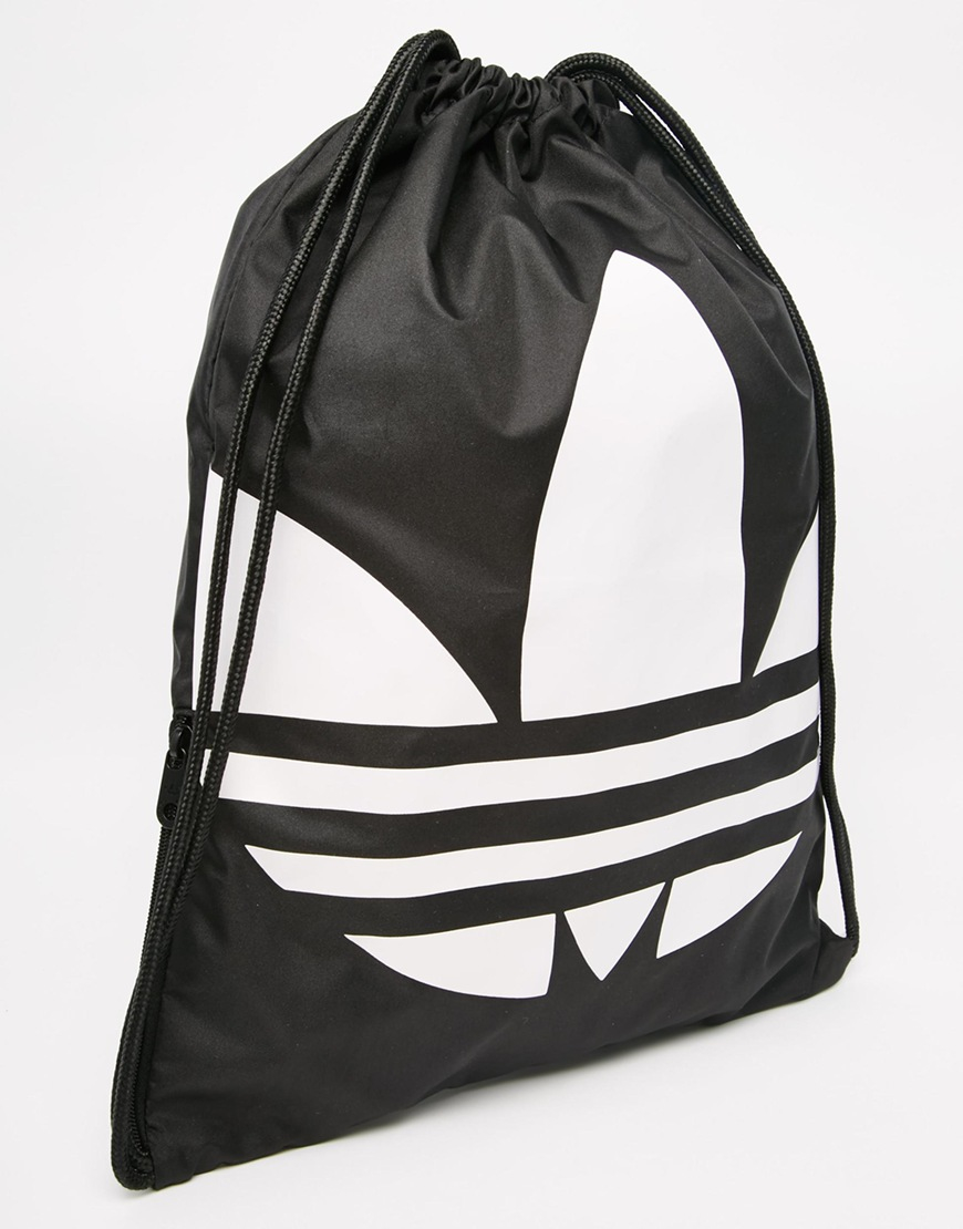 Adidas originals Originals Drawstring Backpack In Black - Black in ...
