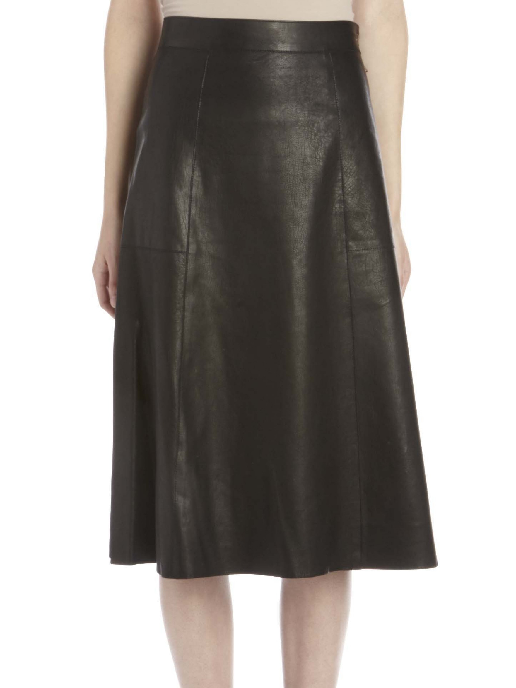 bruno doma leather skirt in black lyst
