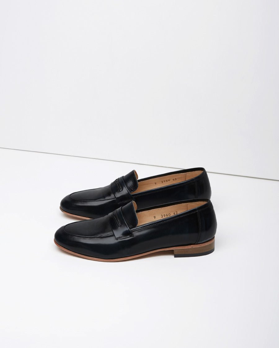free shipping footaction Dieppa Restrepo Metallic Patent Leather Loafers fake cheap online McEs3x