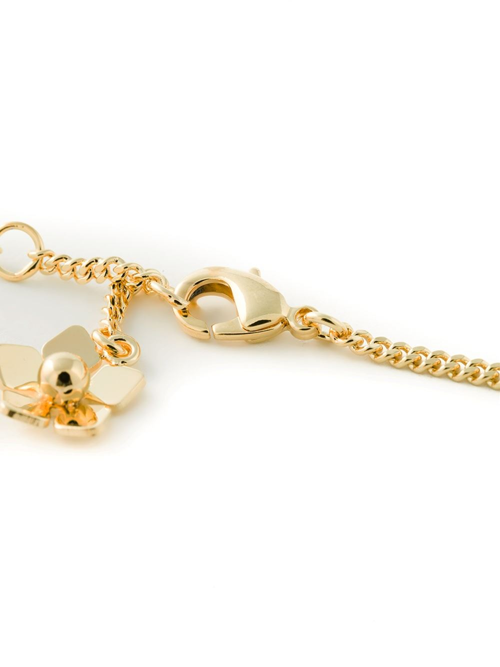 fendi blossom necklace in metallic lyst