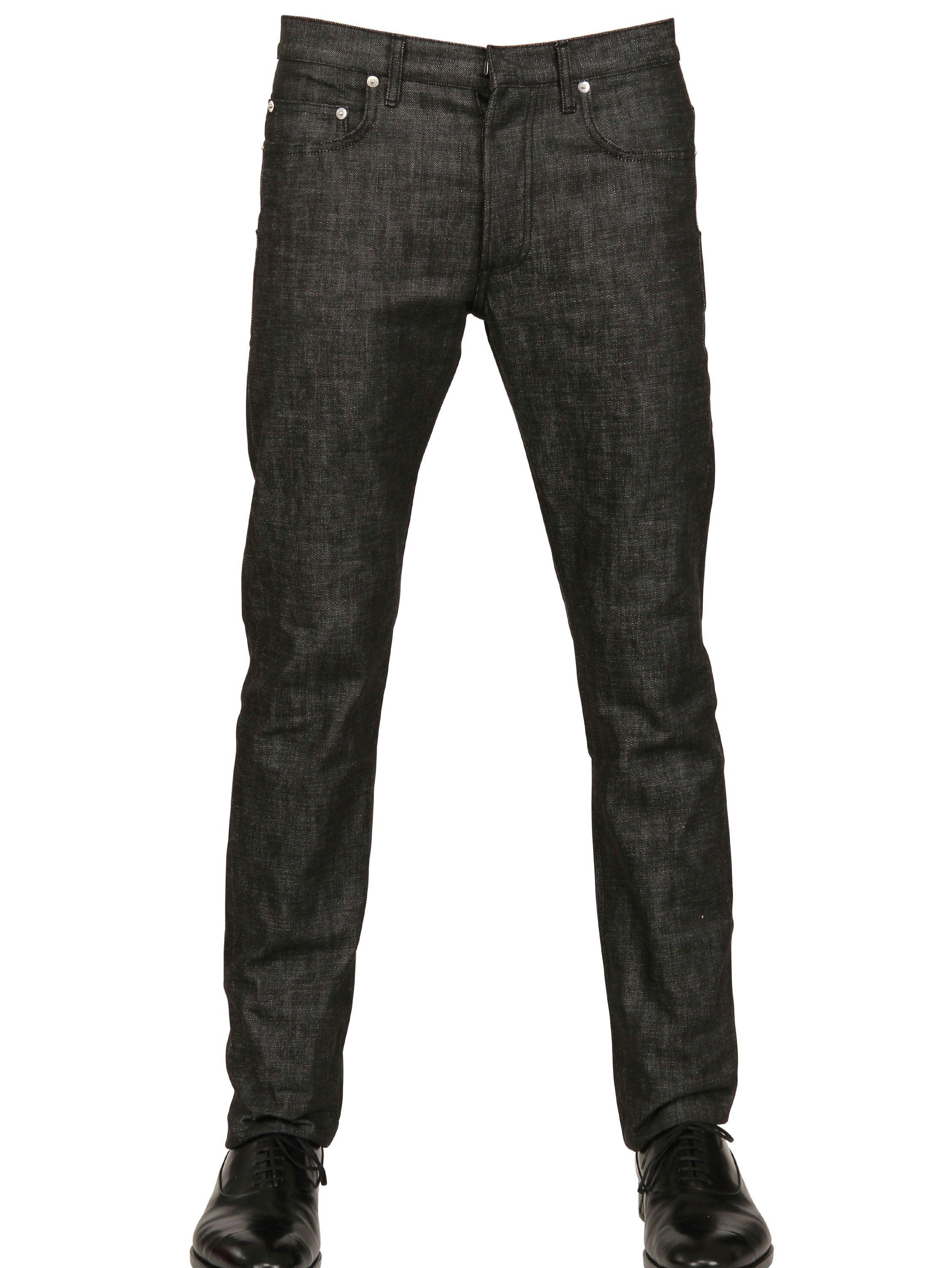 dior homme 19cm brut denim jeans in black for men lyst. Black Bedroom Furniture Sets. Home Design Ideas