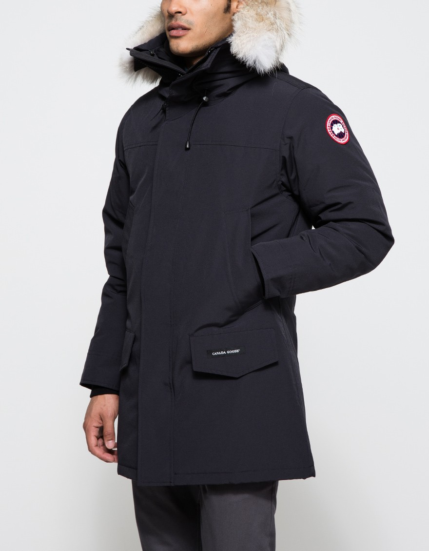 lyst canada goose langford parka in navy in blue for men