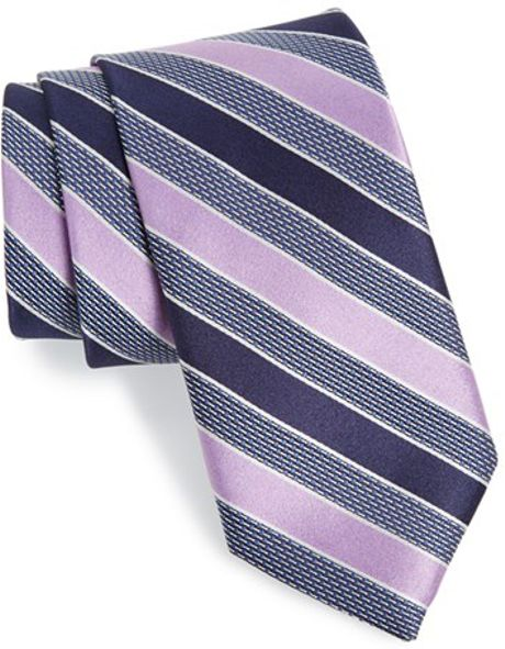 w nordstrom 174 newman stripe silk tie in gray for