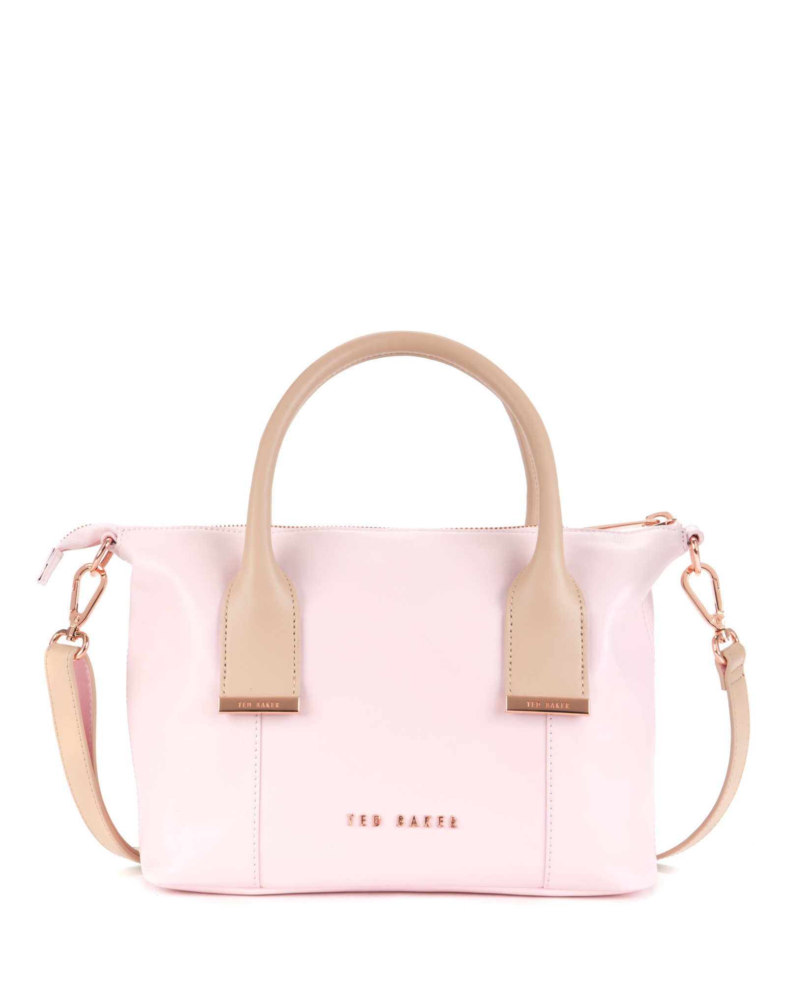 f055e70714 Ted Baker Leather Mini Tote Bag in Pink - Lyst