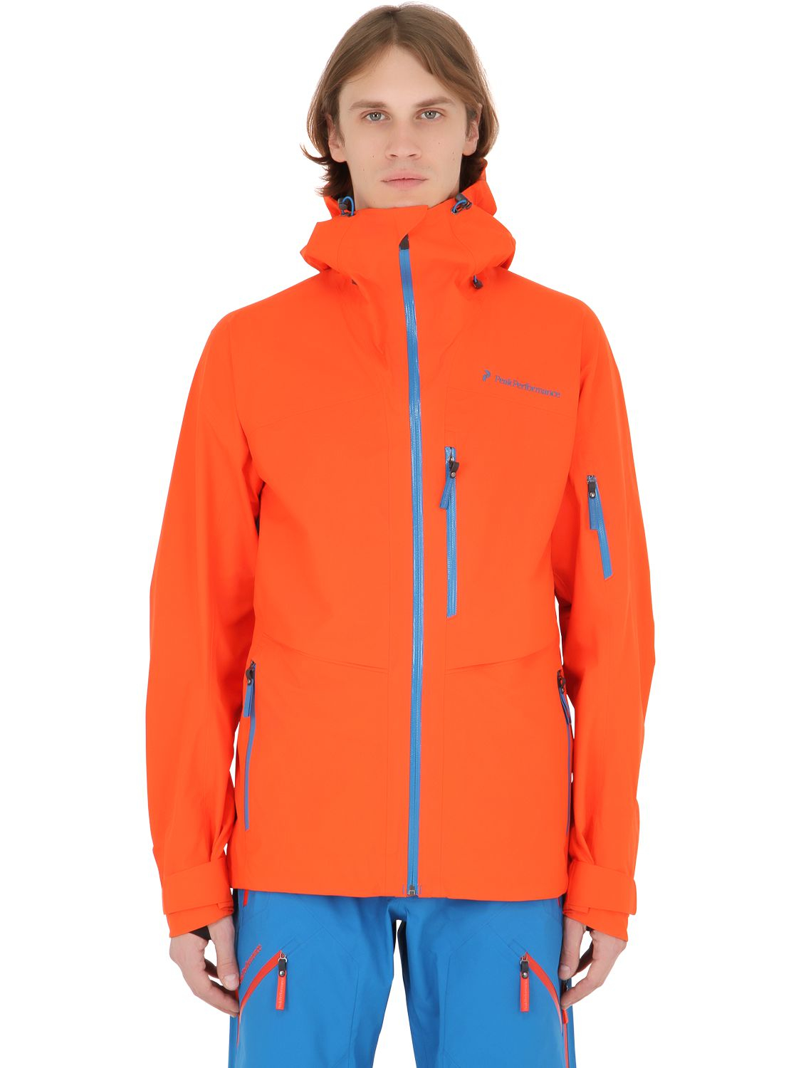 peak performance heli gravity gore tex ski jacket in orange for men flame red lyst. Black Bedroom Furniture Sets. Home Design Ideas
