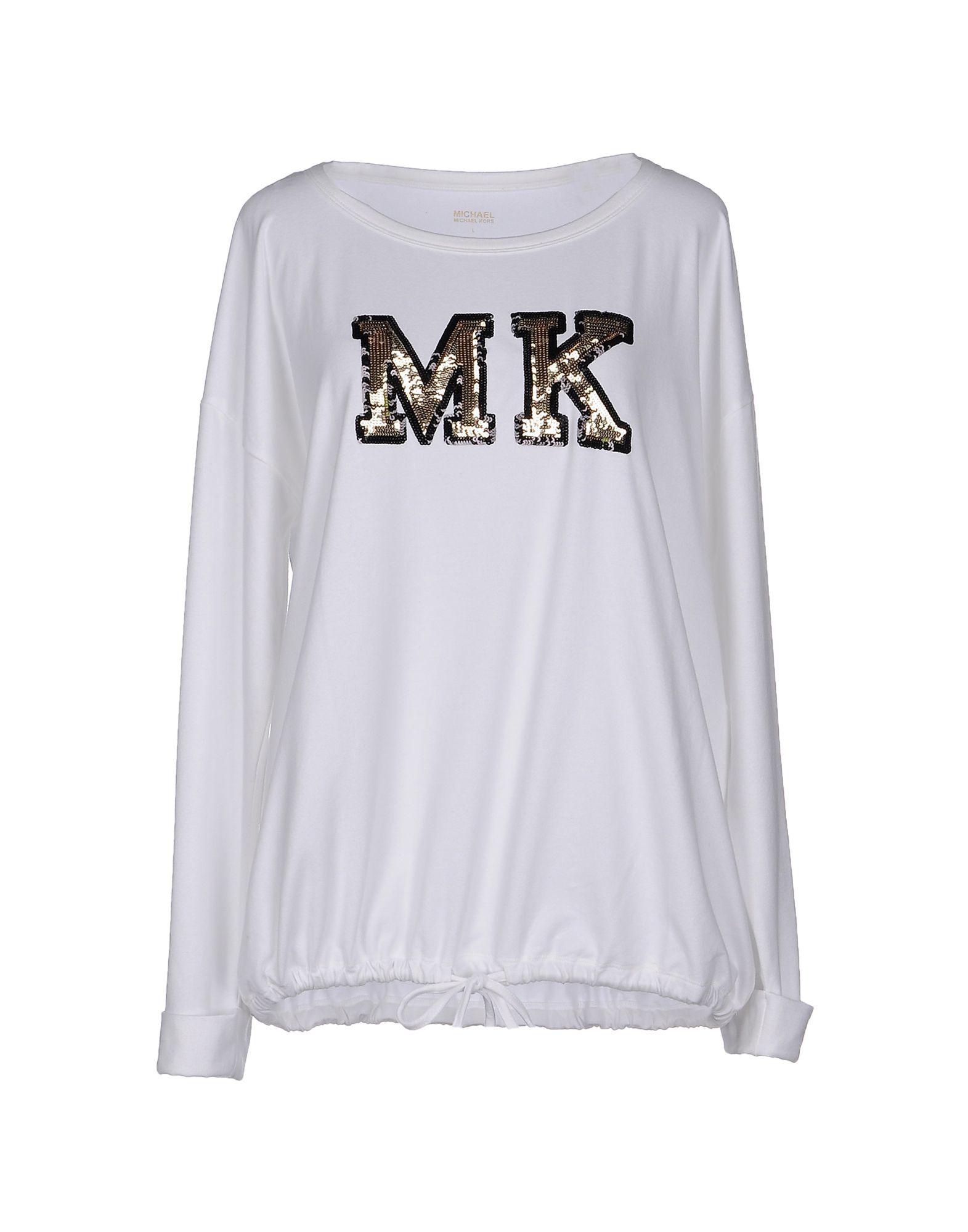 michael michael kors t shirt in white save 50 lyst. Black Bedroom Furniture Sets. Home Design Ideas