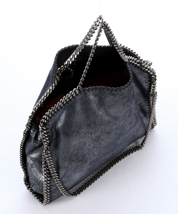 41331a94531 ... Falabella Shaggy Tote Bag ... competitive price 6fe4b ebbed Lyst - Stella  Mccartney Metallic Navy Faux Suede Three Chain ...
